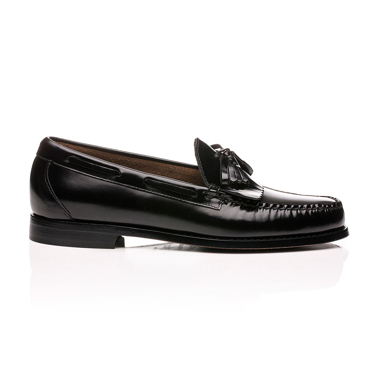 G.H. Bass & Co. Weejuns Layton Kiltie Loafers Black Leather