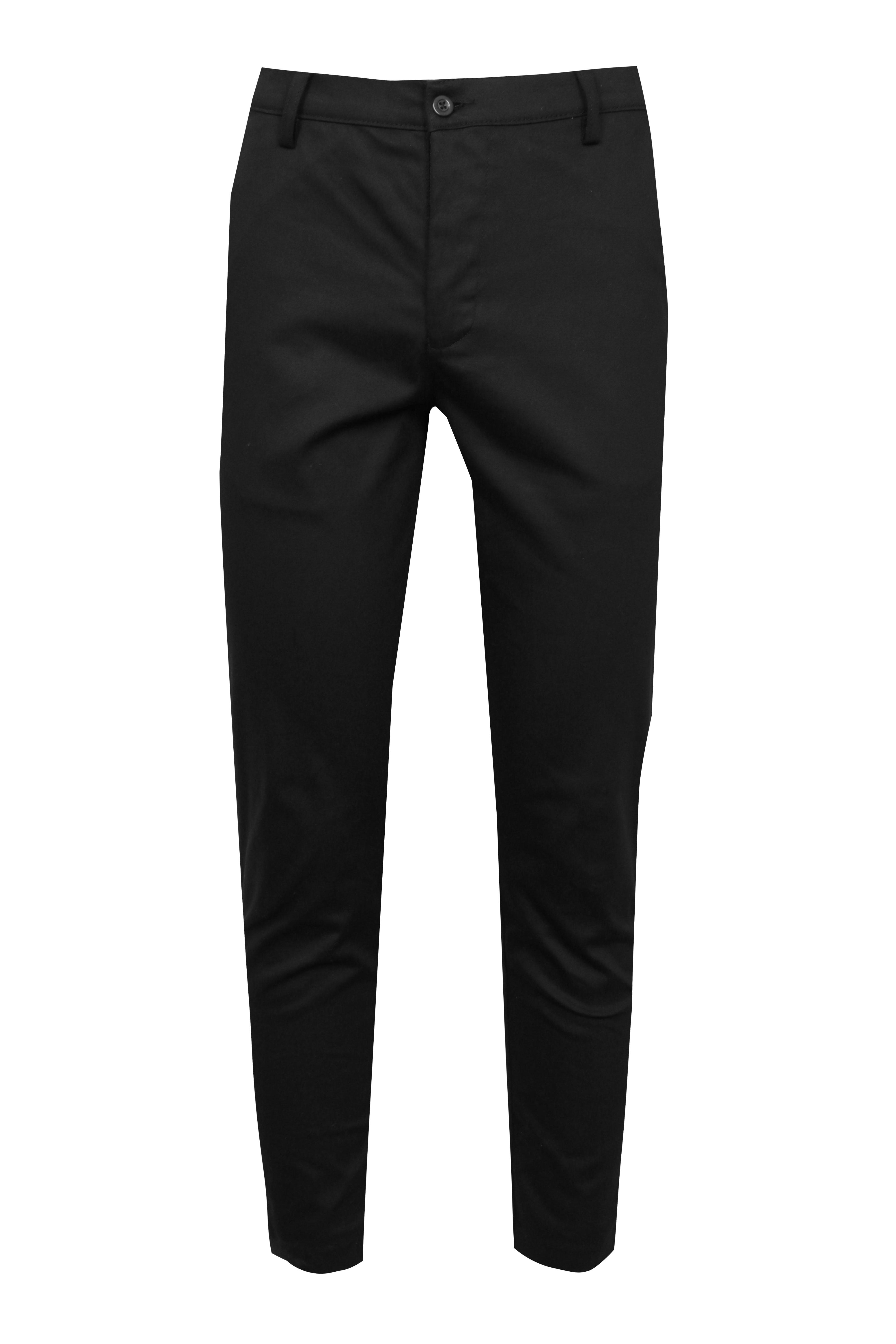boohooMAN black Slim Fit Chino With Stretch