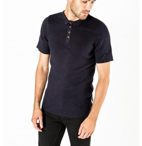 Bellfield Navy Ferdi Polo Shirt