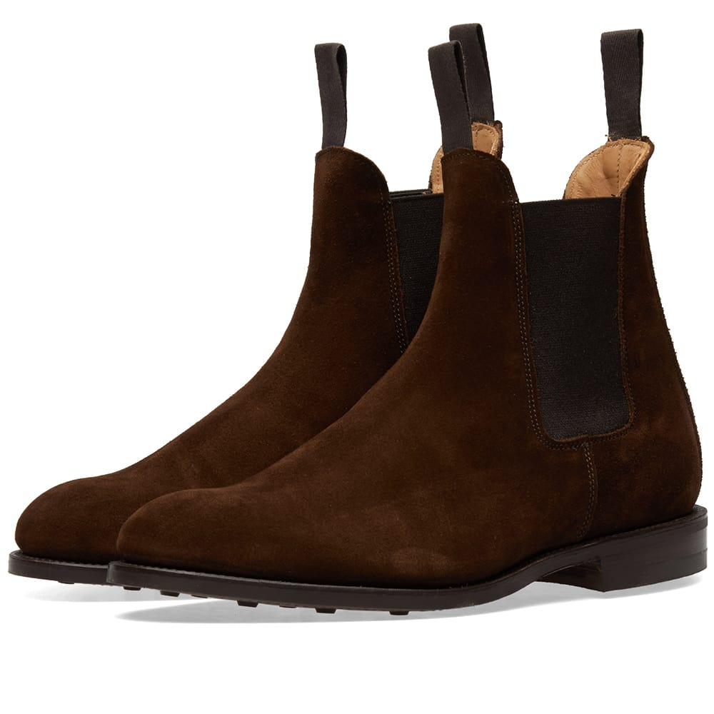 Trickers Chocolate Repello Suede Tricker's Gigio Chelsea Boot