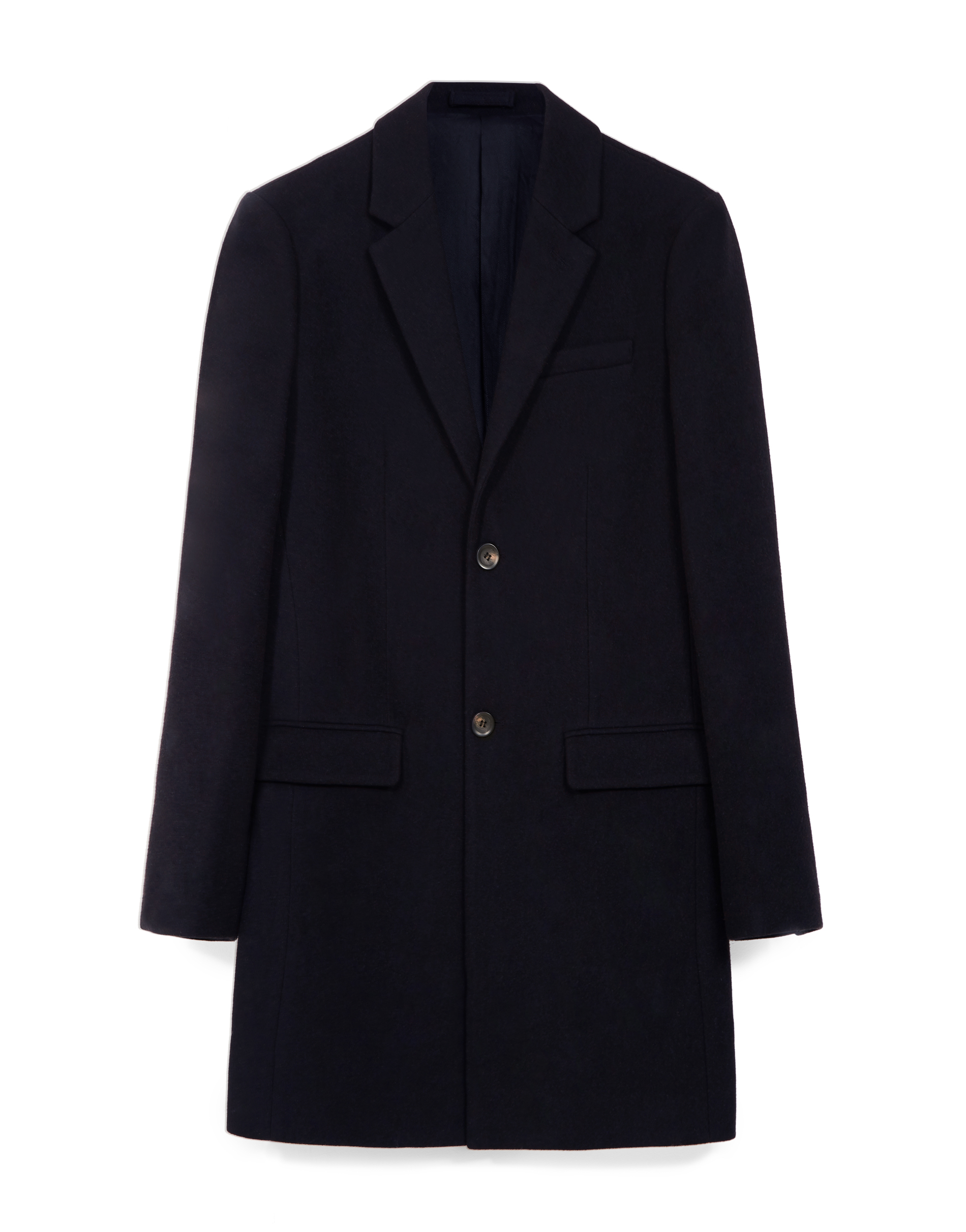 MVP Navy Greenwood Single Breasted Wool Blend Coat