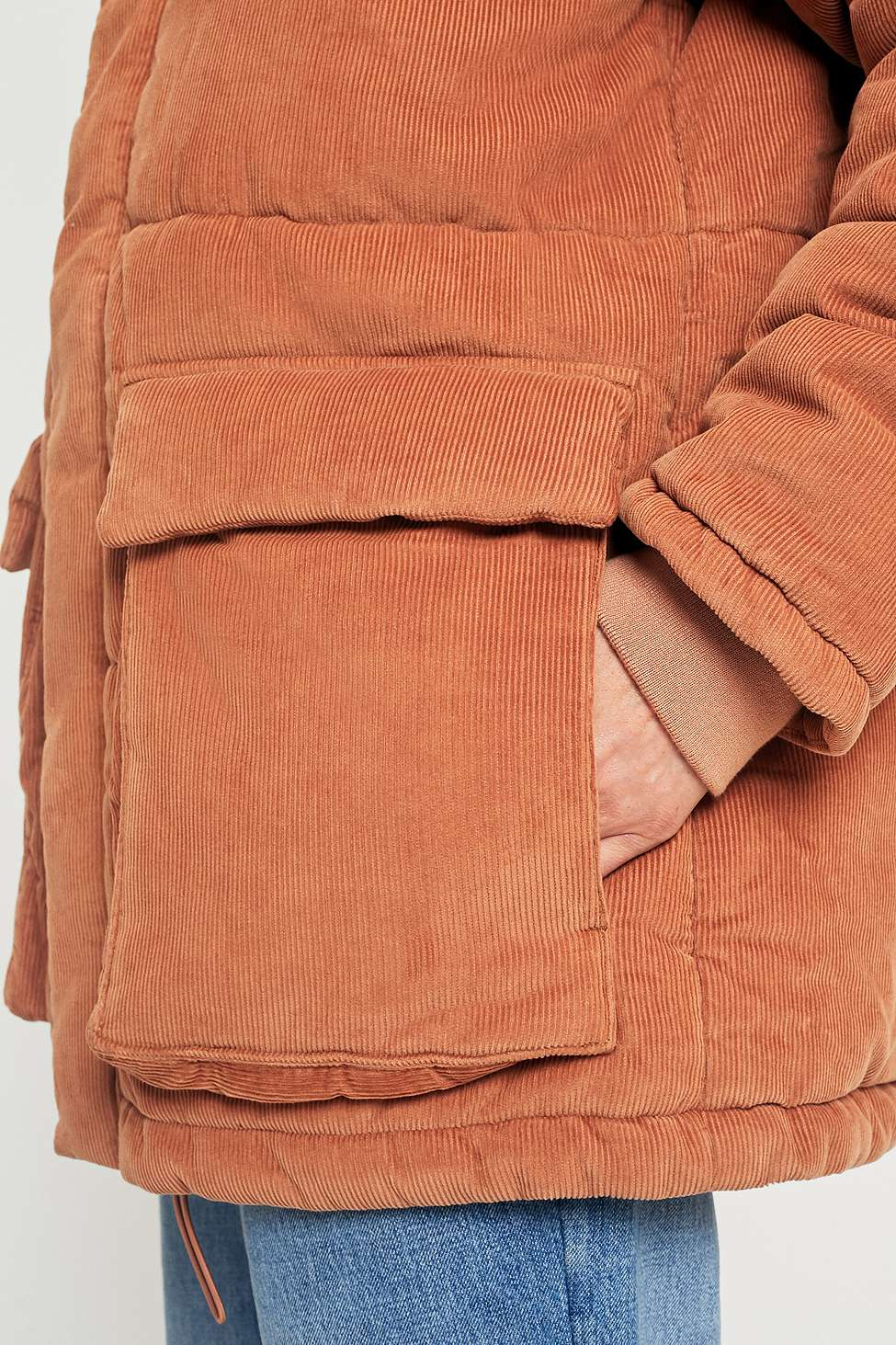 ae721645bb485 UO Kevin Rust Corduroy Puffer Jacket. £120£60. Sorry, this item has just  gone out of stock. Our stylists will find you something similar if you sign  up for ...