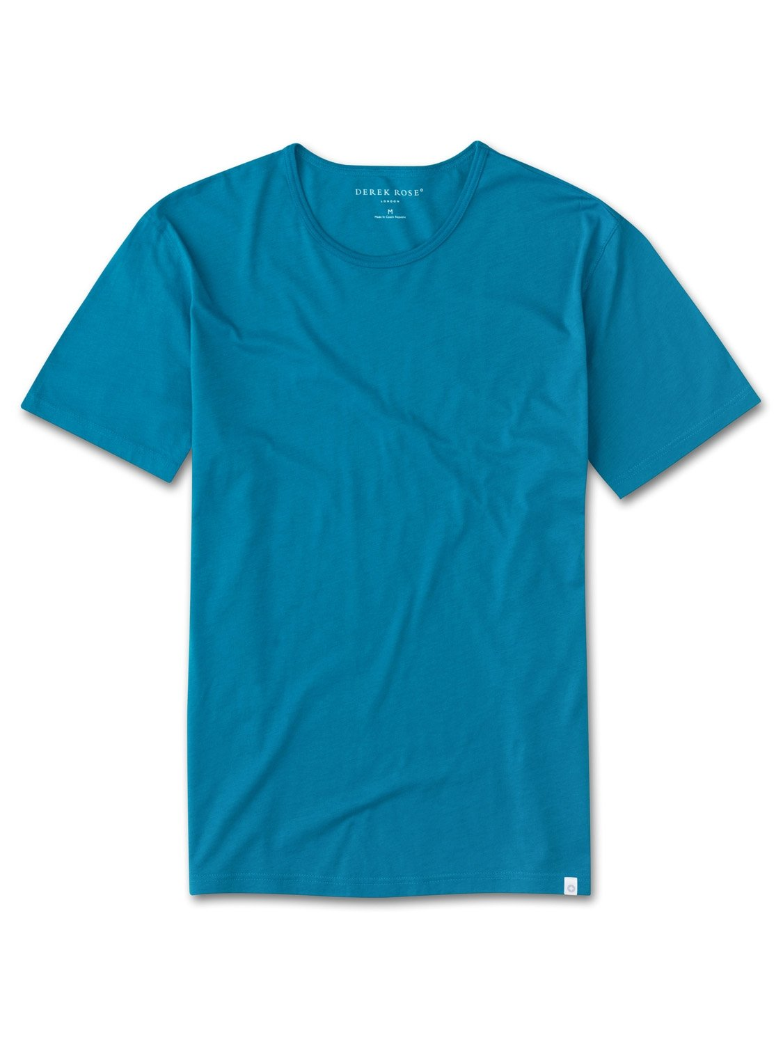 Derek Rose Men's Short Sleeve T-Shirt — Riley 2 Pima Cotton Teal