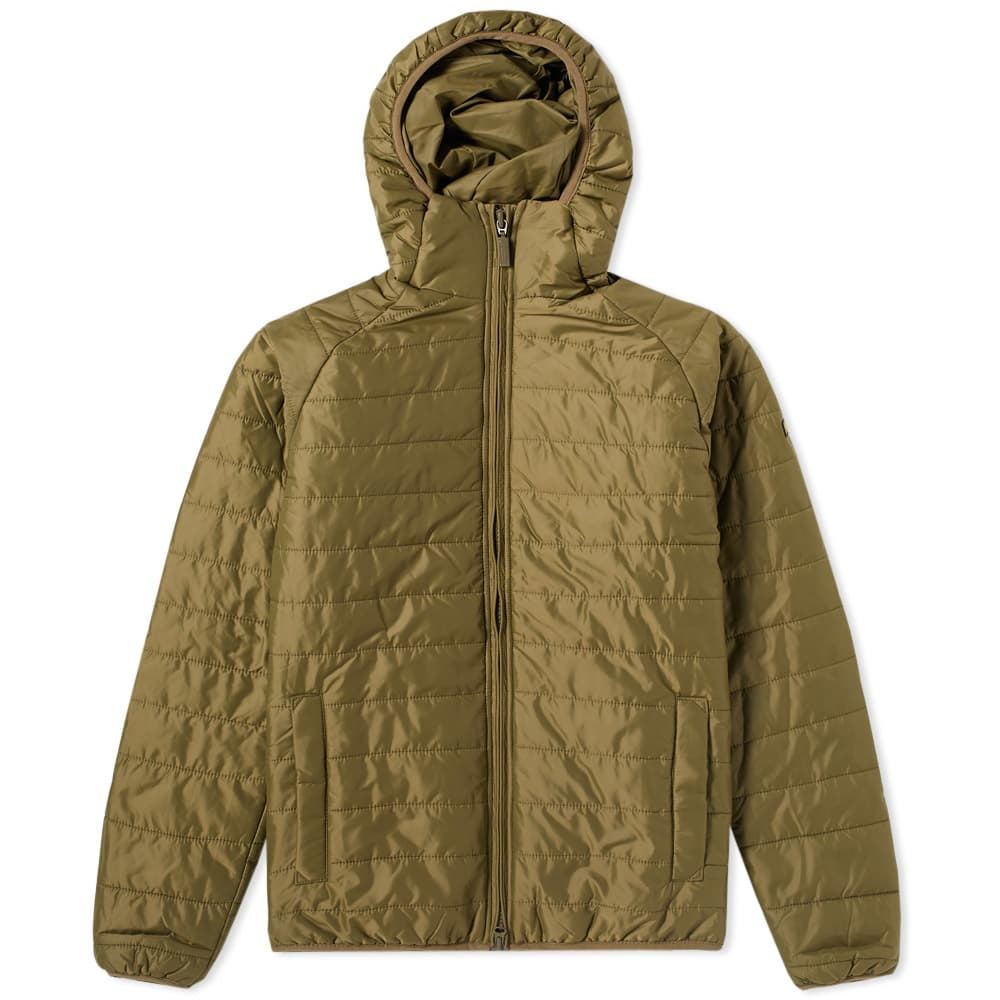 Barbour Pea Green International Level Hooded Quilt Jacket
