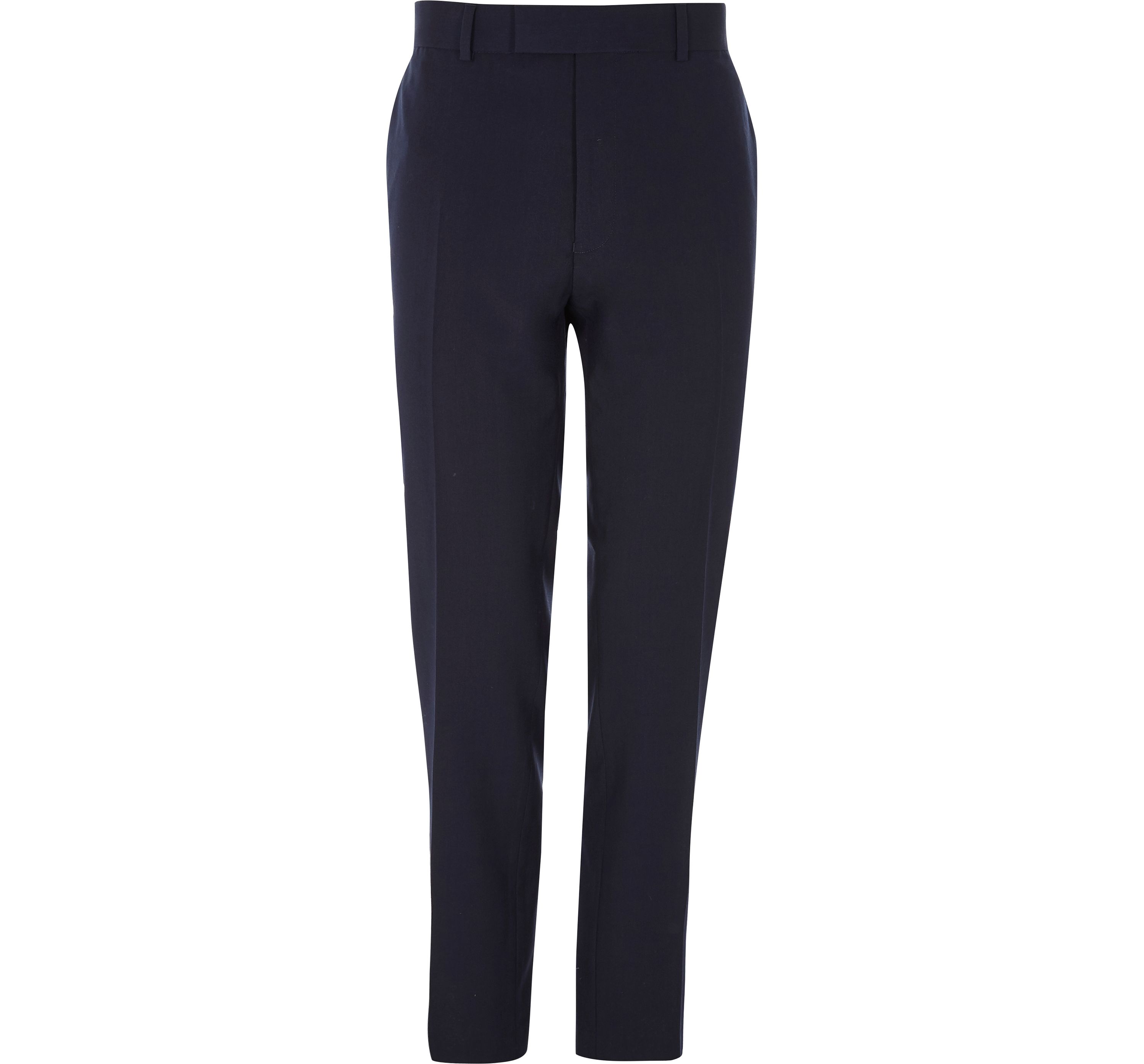 River Island Mens Navy tailored skinny fit trousers