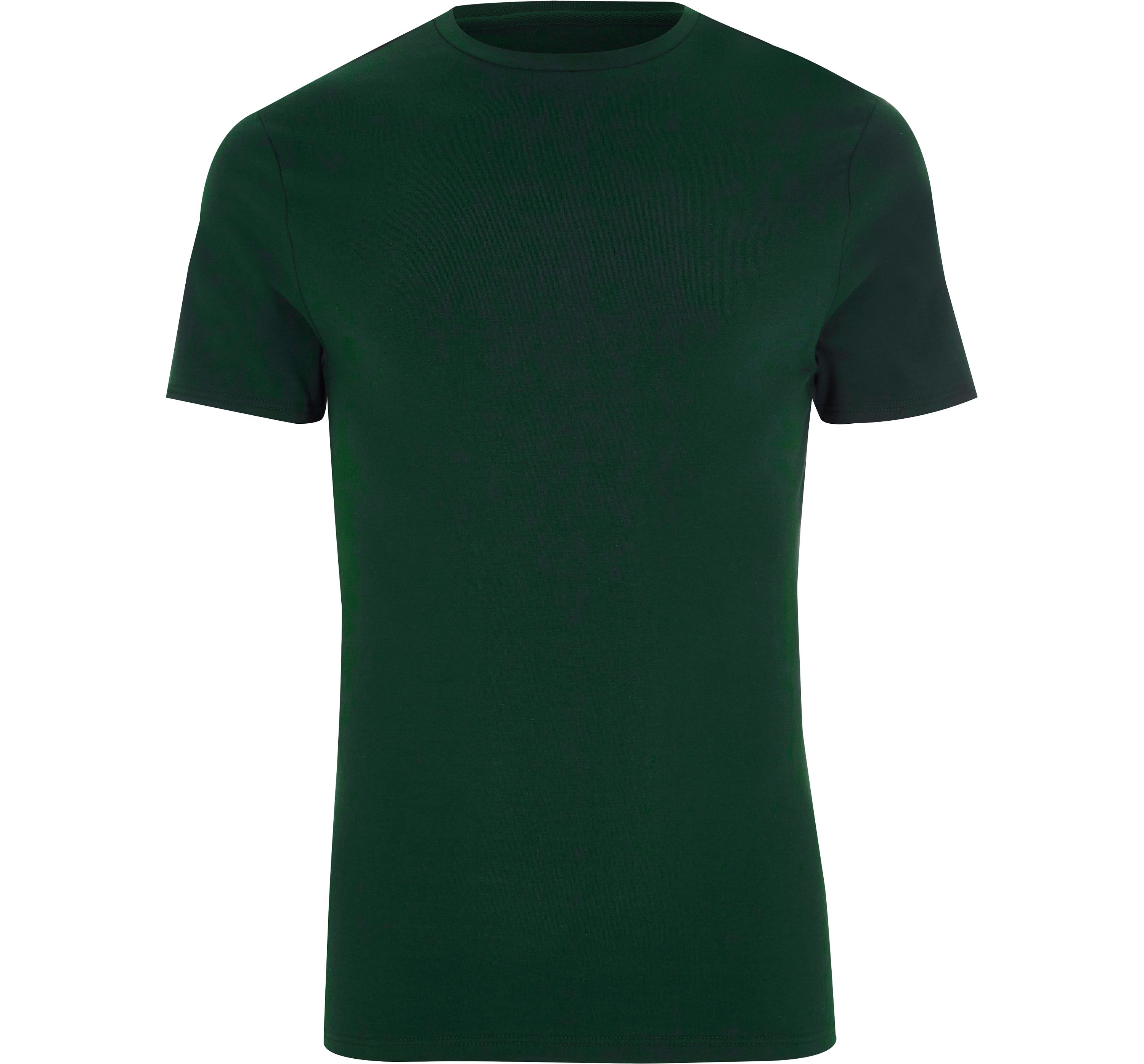River Island Mens Dark Green muscle fit crew neck T-shirt