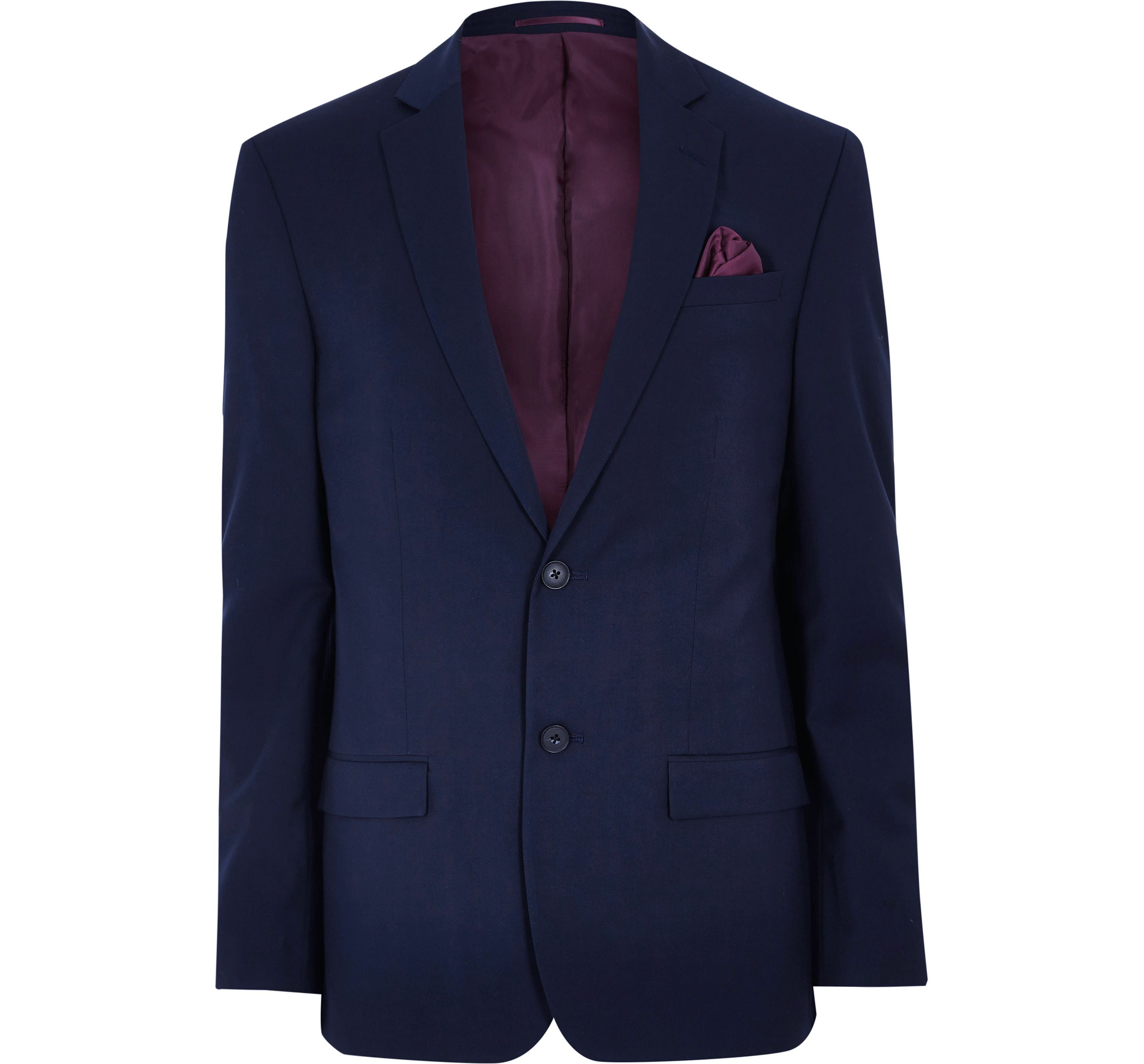 River Island Mens Navy tailored suit jacket