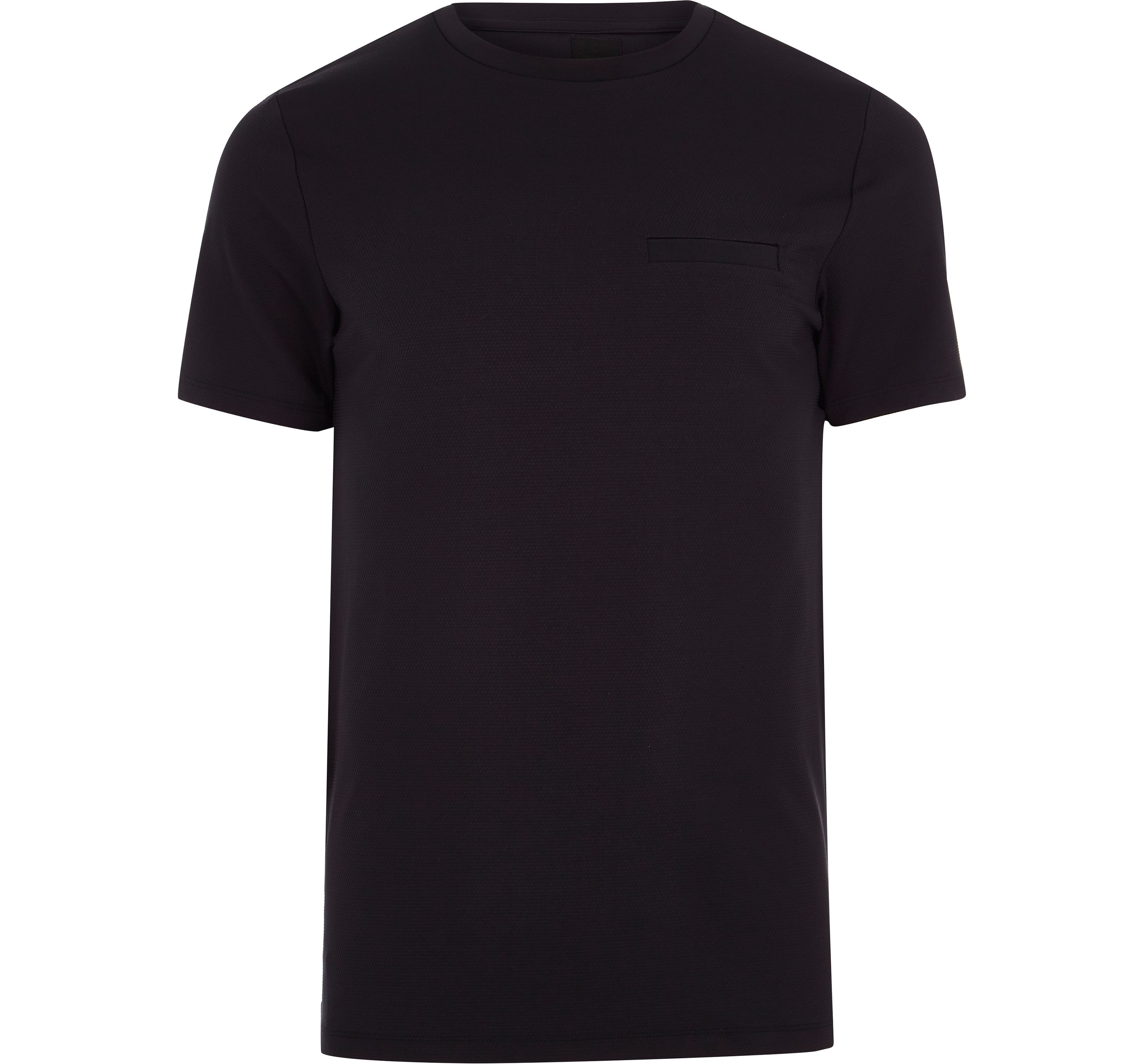 River Island Mens Navy slim fit chest pocket T-shirt