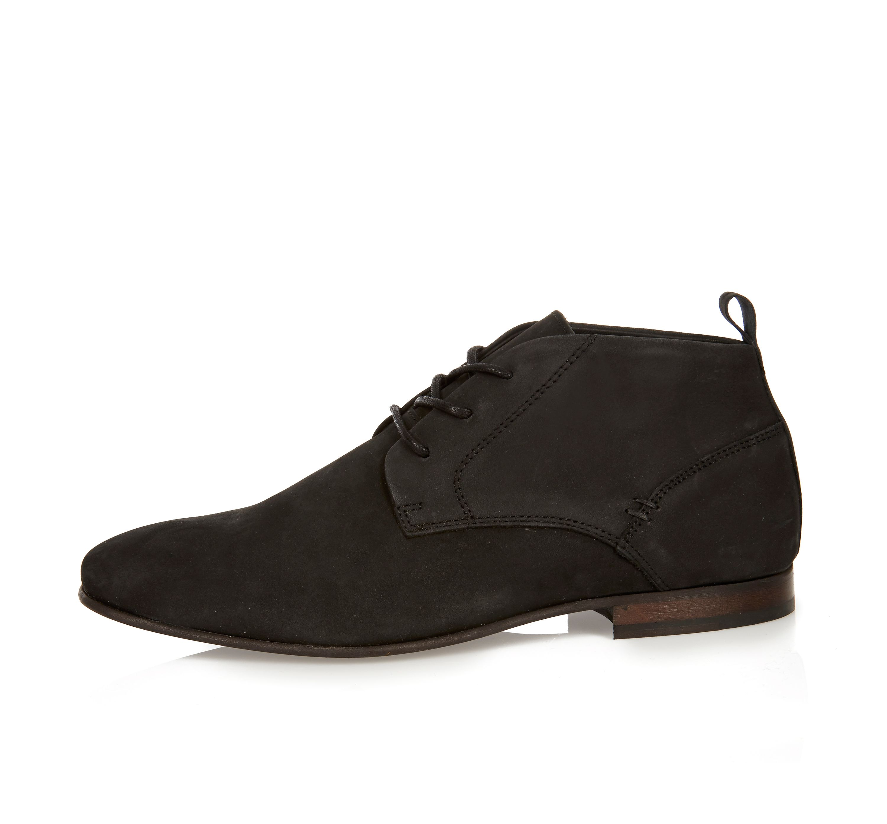 River Island Mens Black suede chukka boots