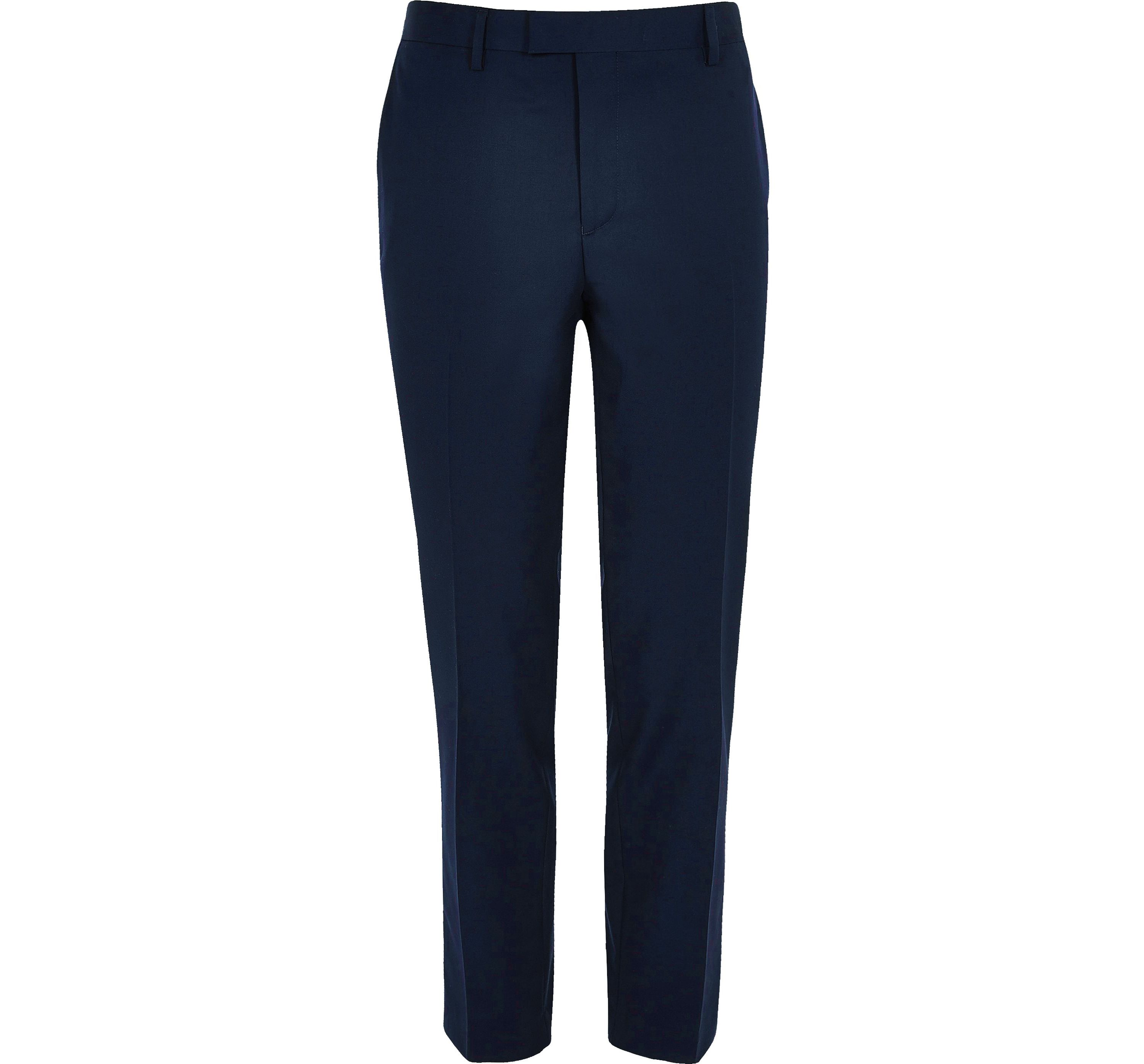 River Island Mens Navy smart skinny suit trousers