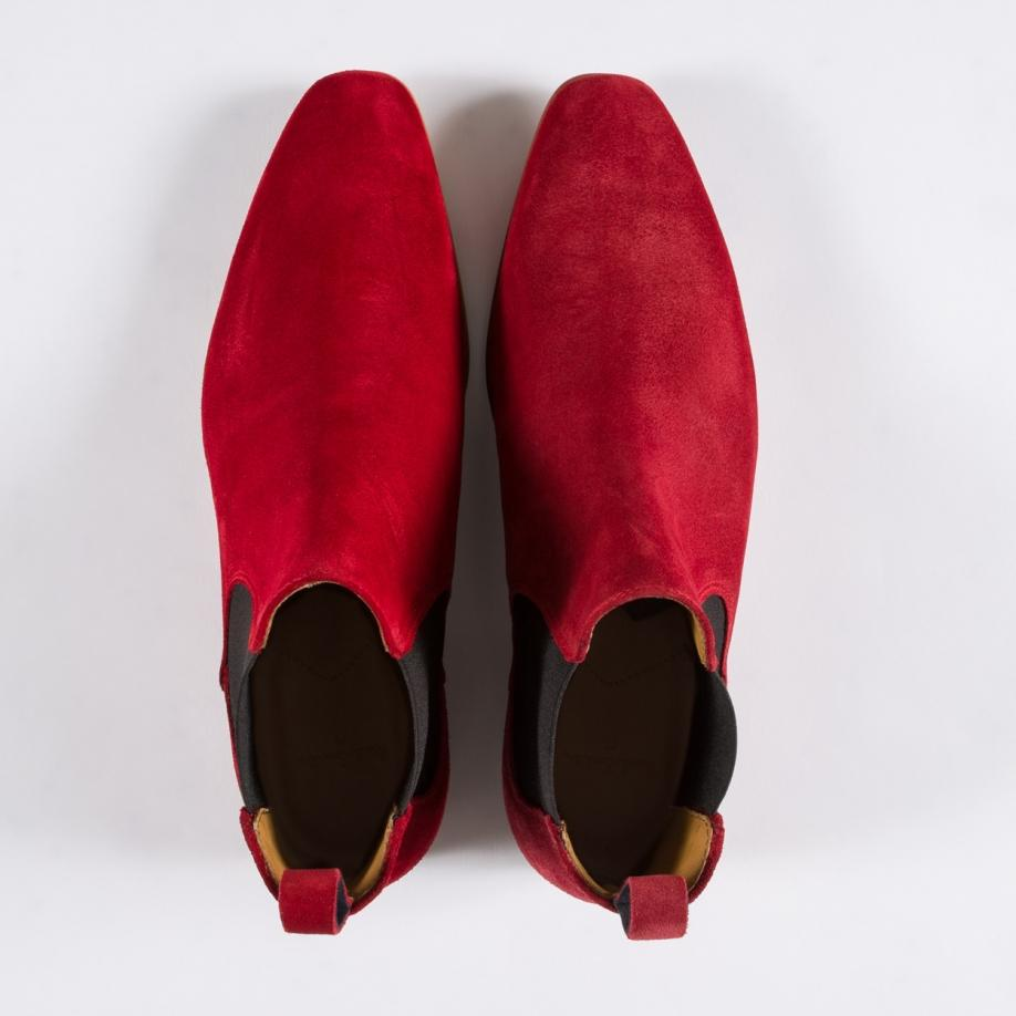 Men S Red Suede Falconer Chelsea Boots Thread