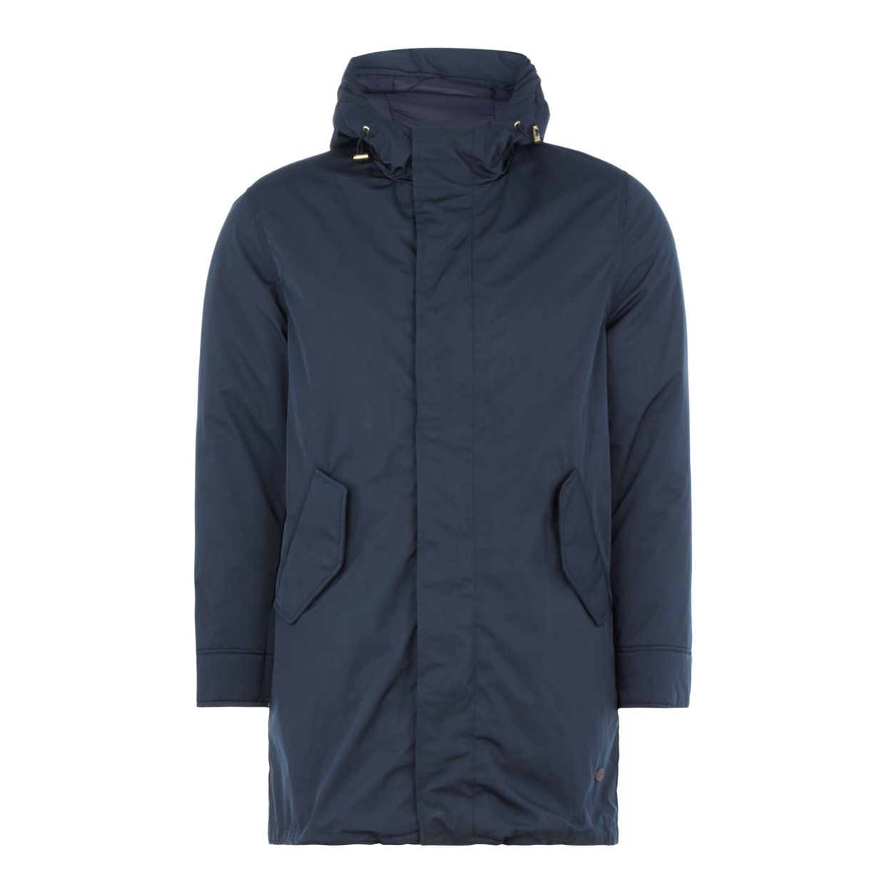 Hammond & Co. by Patrick Grant Navy shower resistant parka coat
