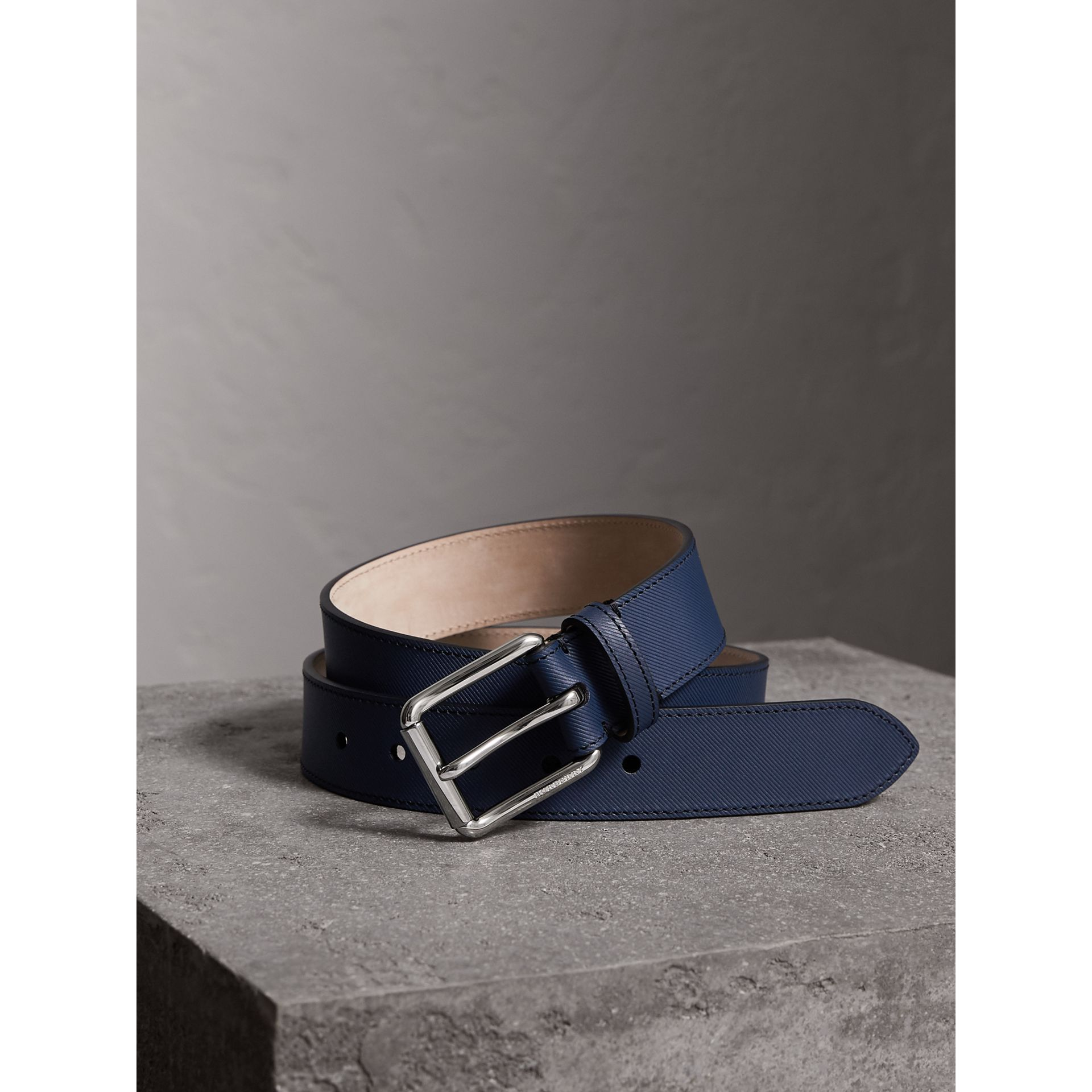 Burberry Ink Blue Trench Leather Belt