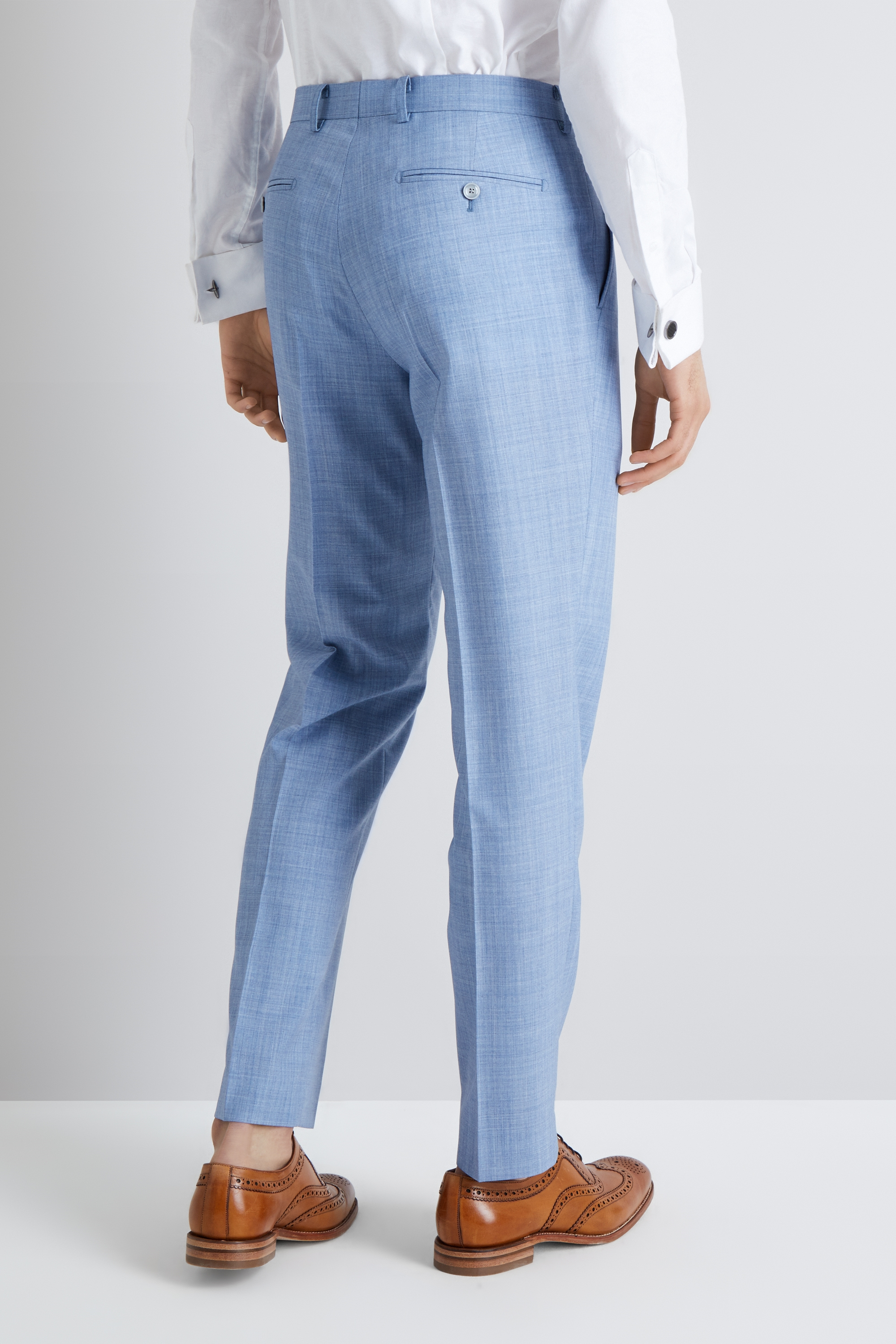 9b5e7c929ce French Connection Slim Fit Sky Blue Marl Trousers. £90£20