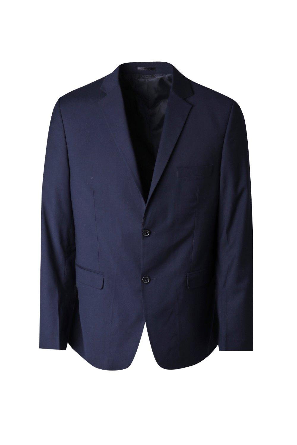 boohooMAN navy Big And Tall Skinny Fit Suit Jacket