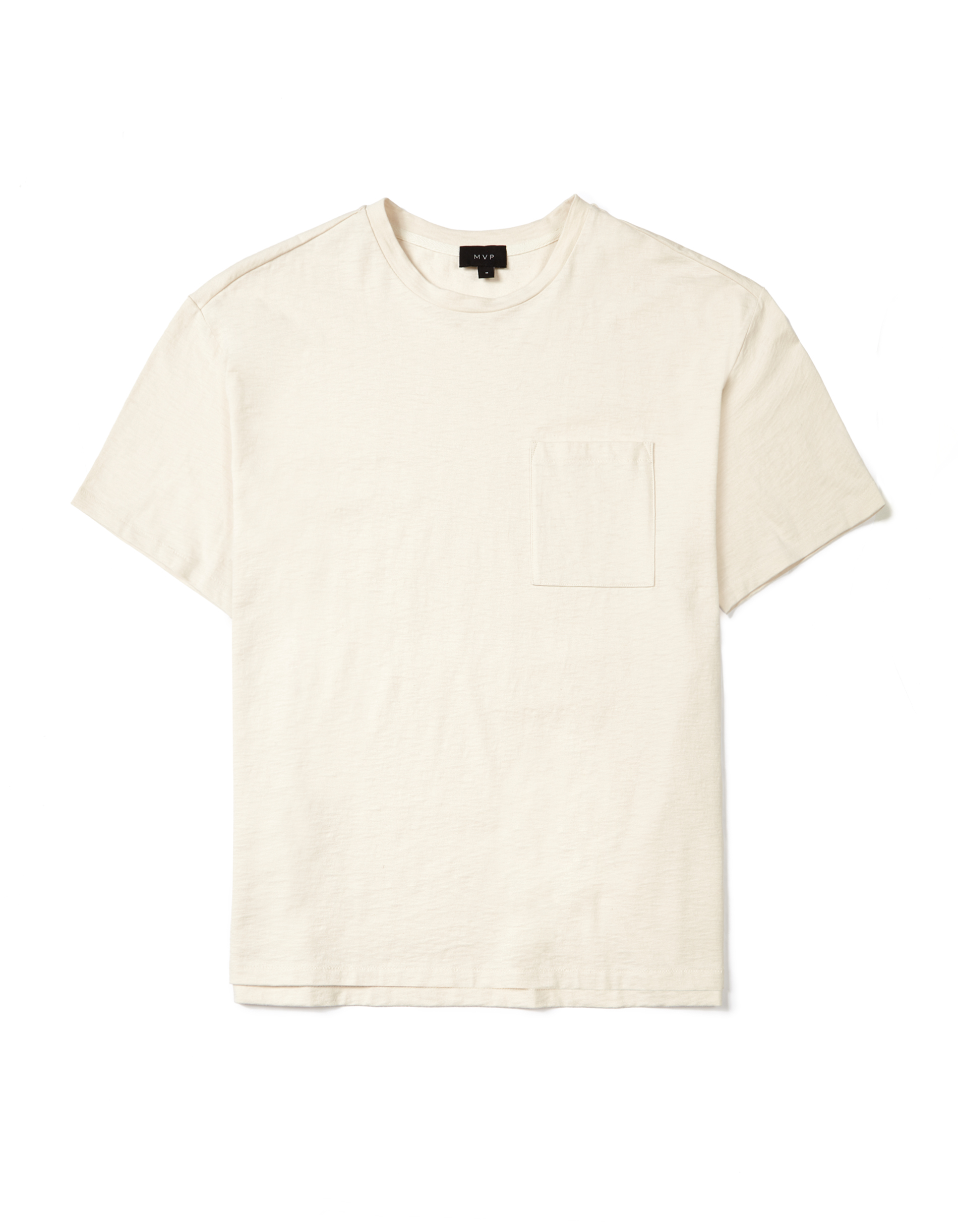 MVP Albion Slub Jersey Crew Neck T-Shirt - Natural White