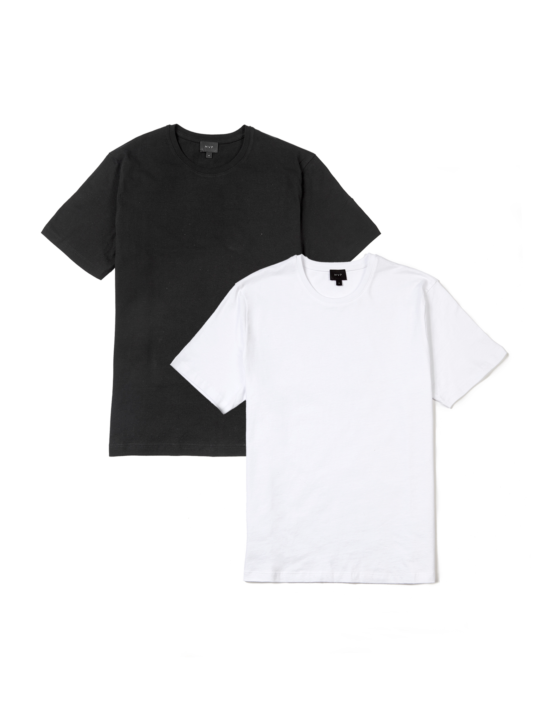 MVP 2-Pack of Ashfield Crew Neck T-shirt - White + Black