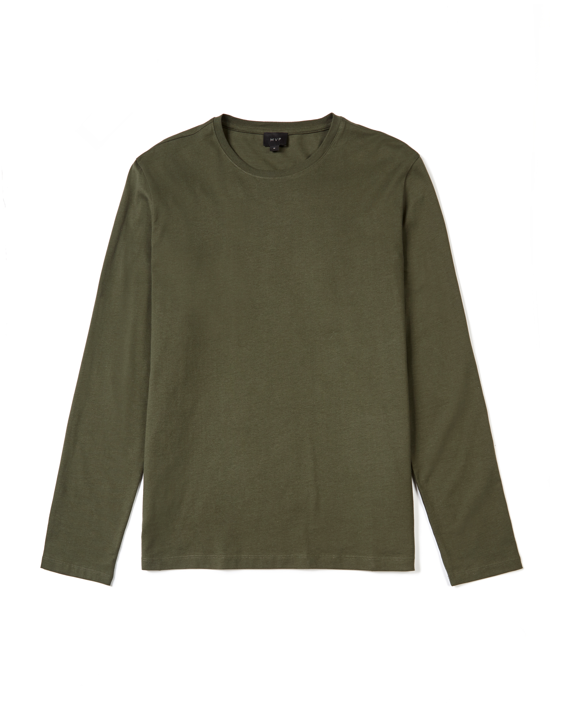 MVP MOSS GREEN Ashfield Long Sleeve Crew Neck T-shirt