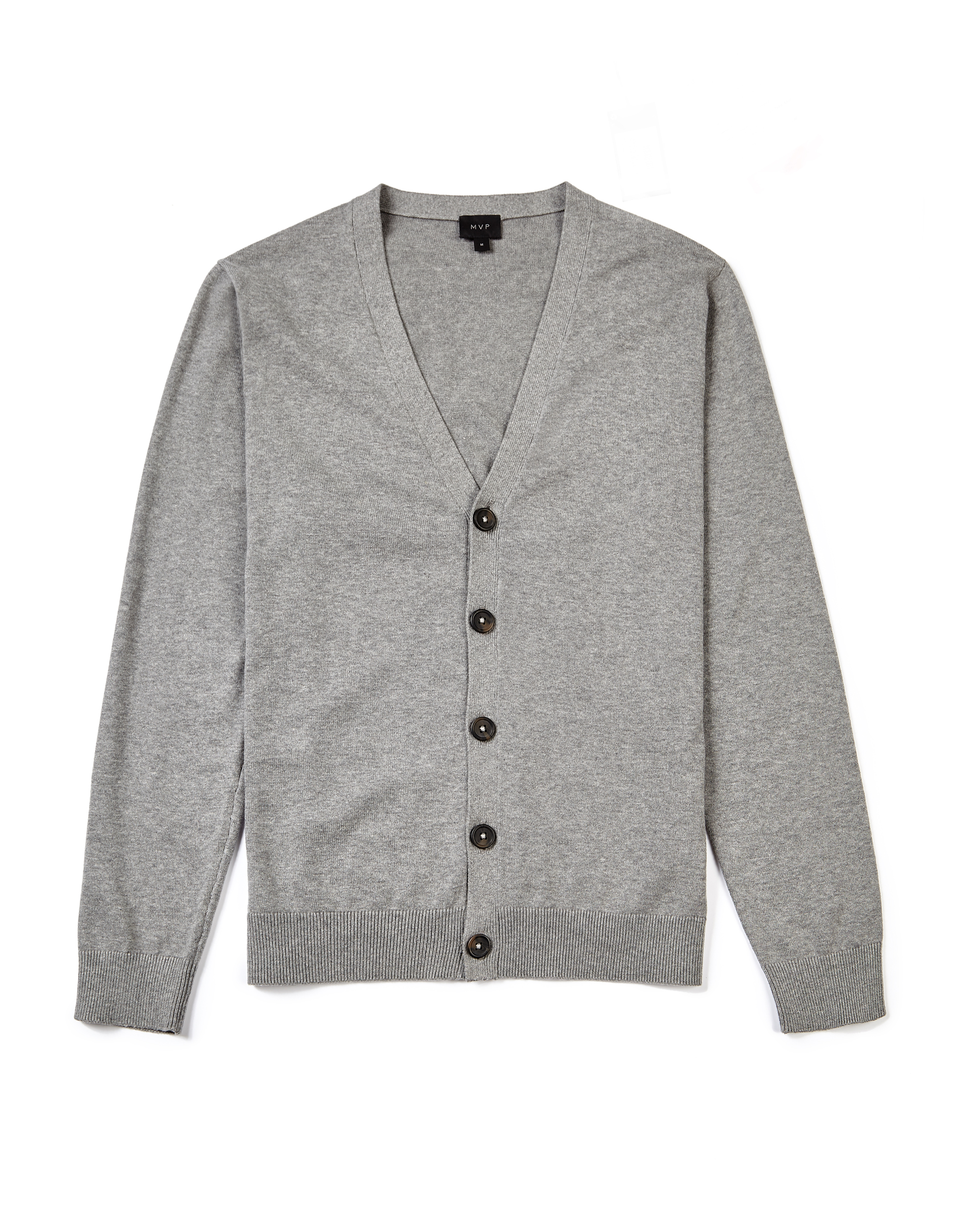 MVP MID GREY MELANGE Clark Cotton Cardigan