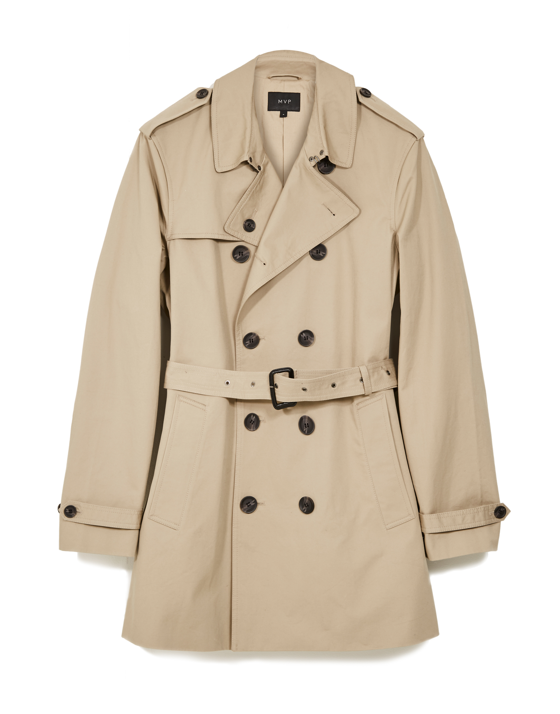 MVP HONEY Fleet Double Breasted Cotton Trench Coat