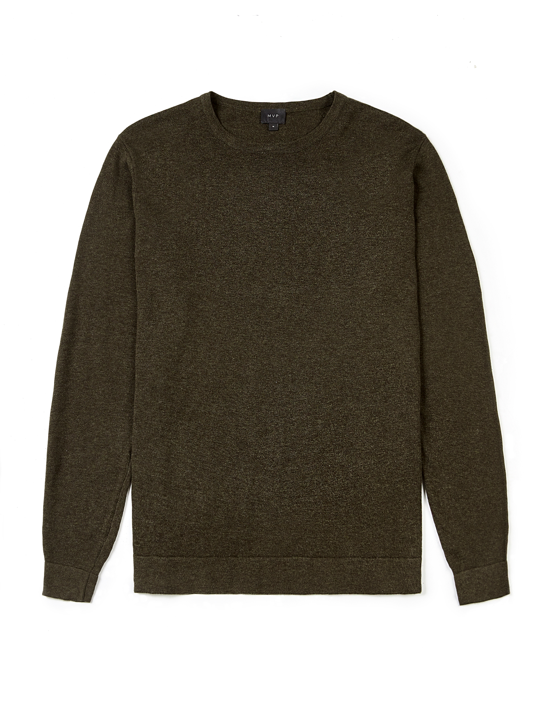 MVP MOSS GREEN Sutton Cotton Knitted Crew Neck