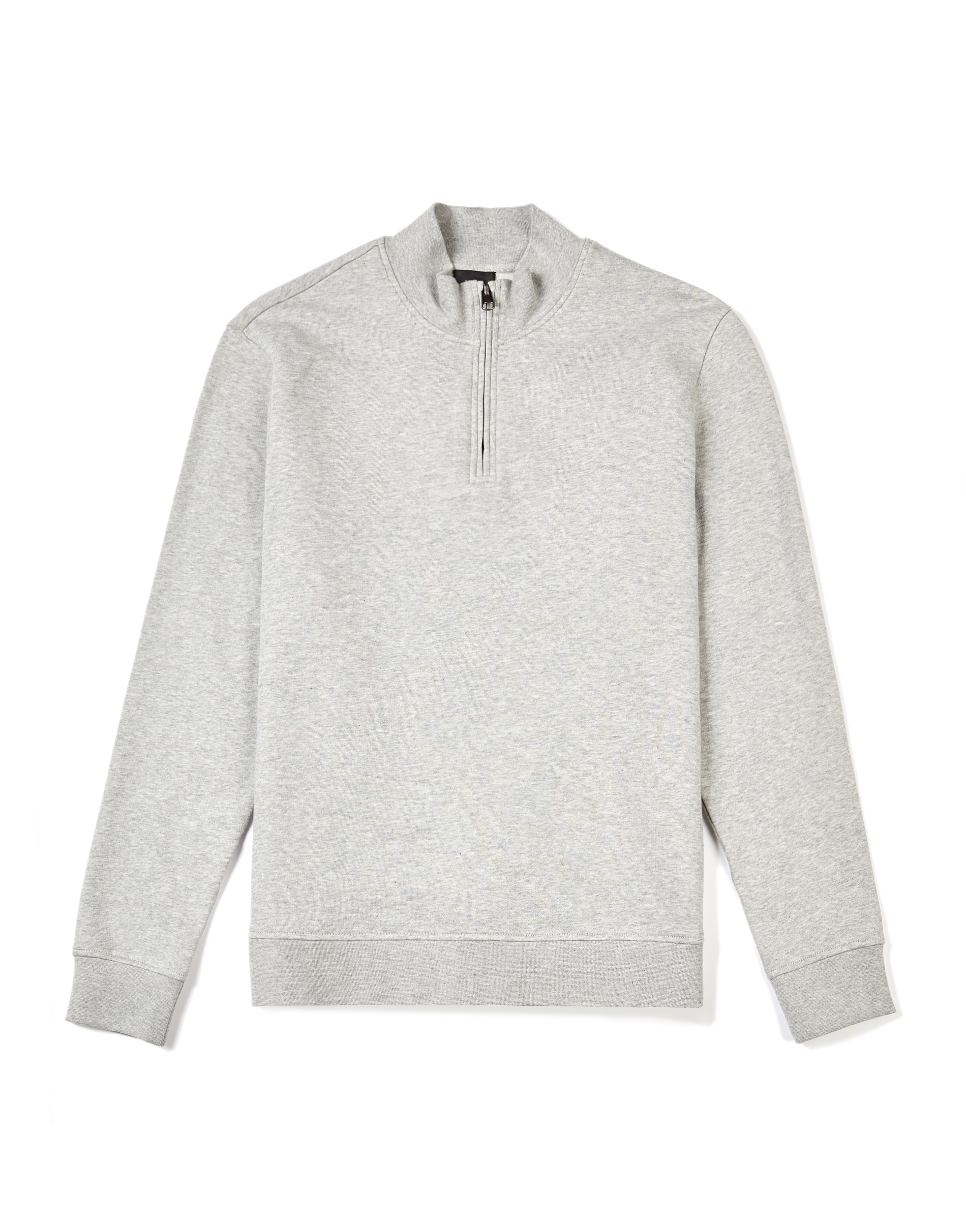 MVP MID GREY MELANGE Vyner Funnel Neck Cotton Sweatshirt