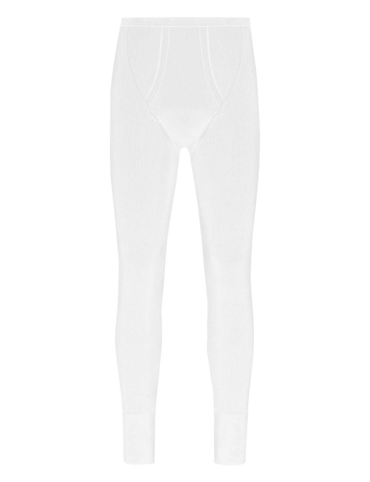 Marks & Spencer White Cotton Rich Thermal Long Pants