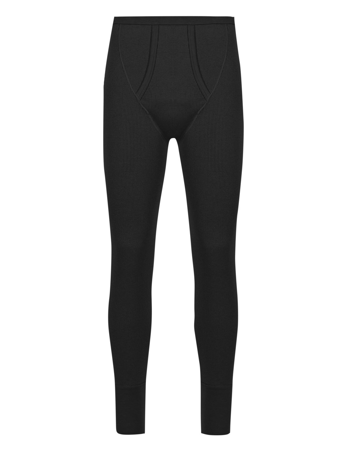 Marks & Spencer Black Cotton Rich Thermal Long Pants
