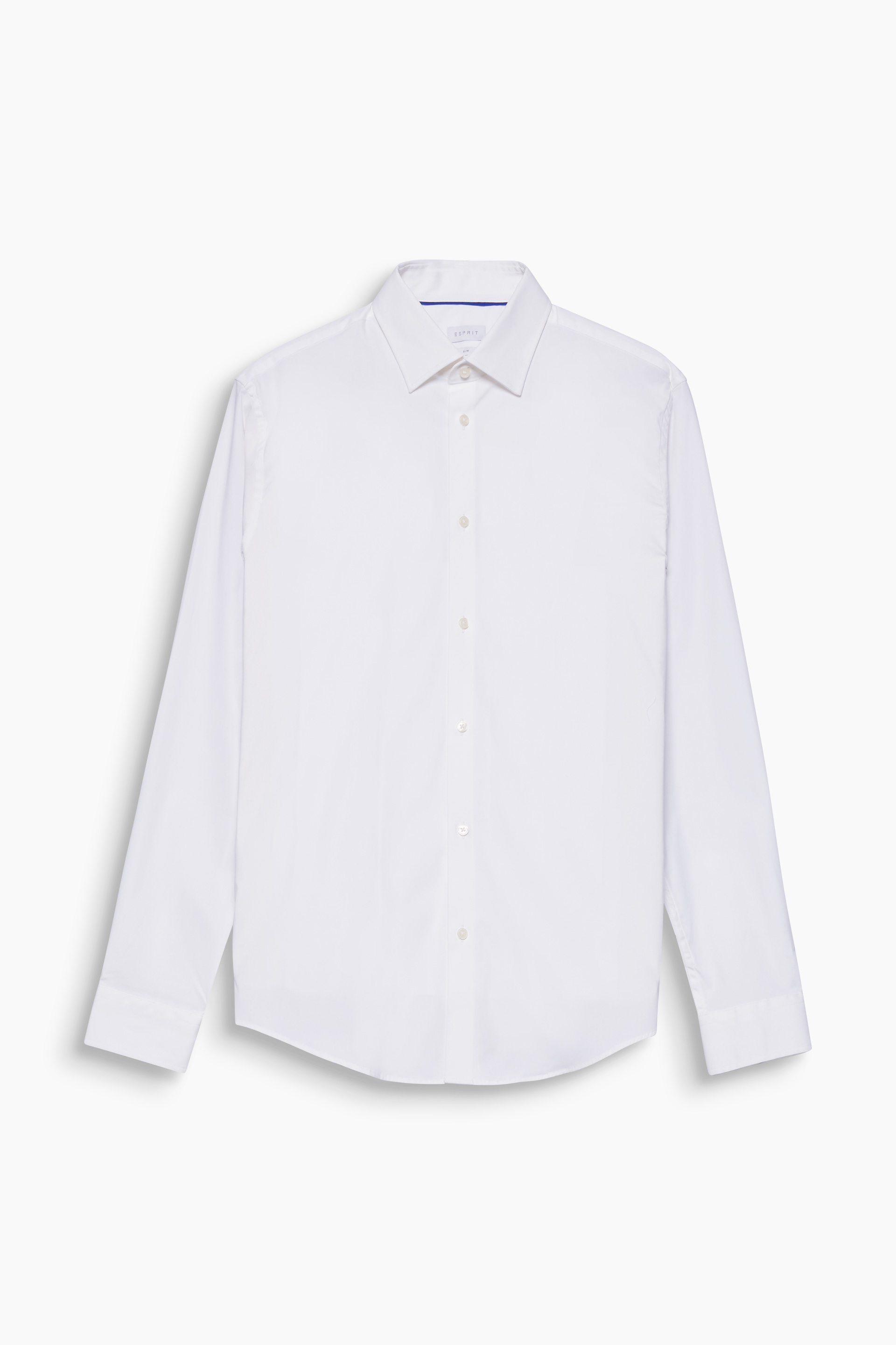Esprit White - 100 Slim Fit Stretch Cotton Shirt