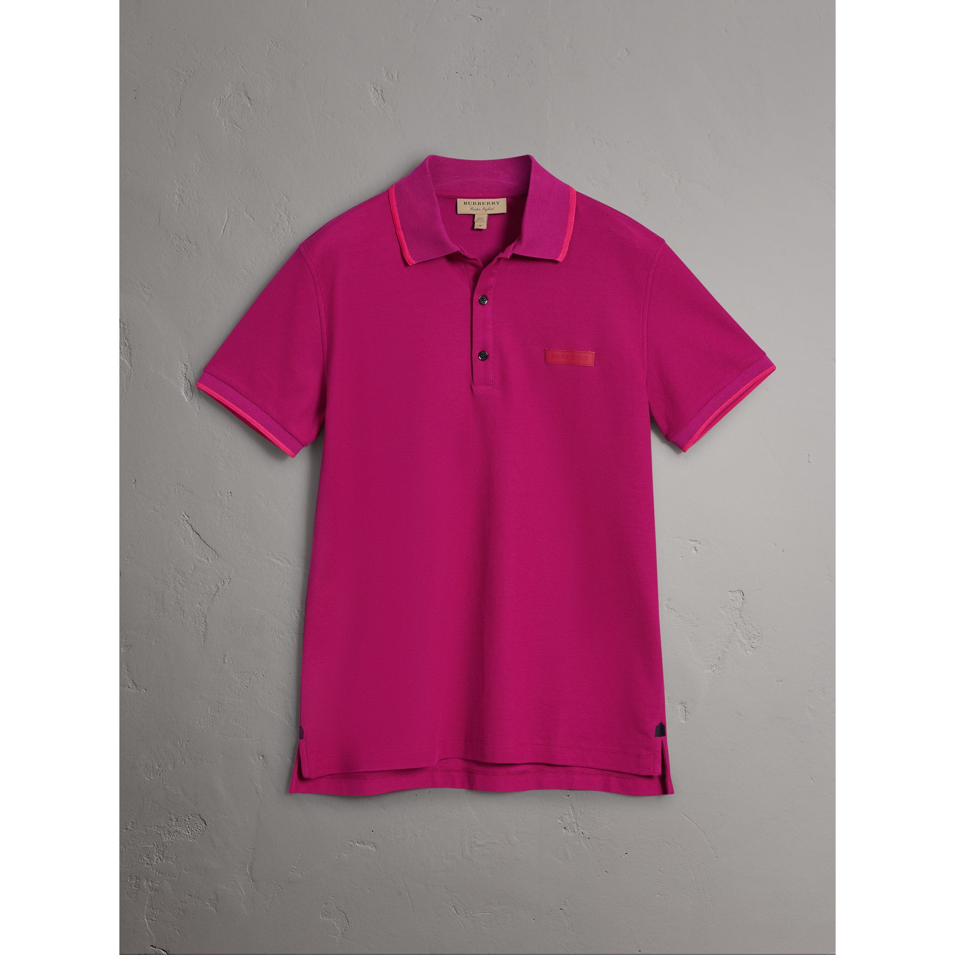 Burberry Bright Fuchsia Cotton Piqué Polo Shirt