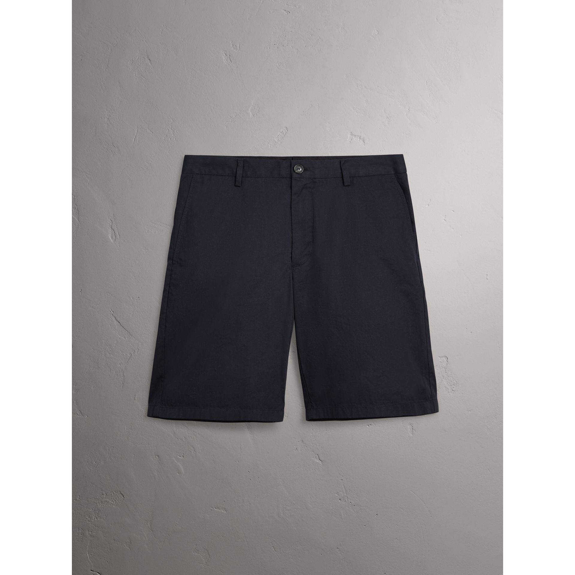 Burberry Ink Cotton Twill Chino Shorts