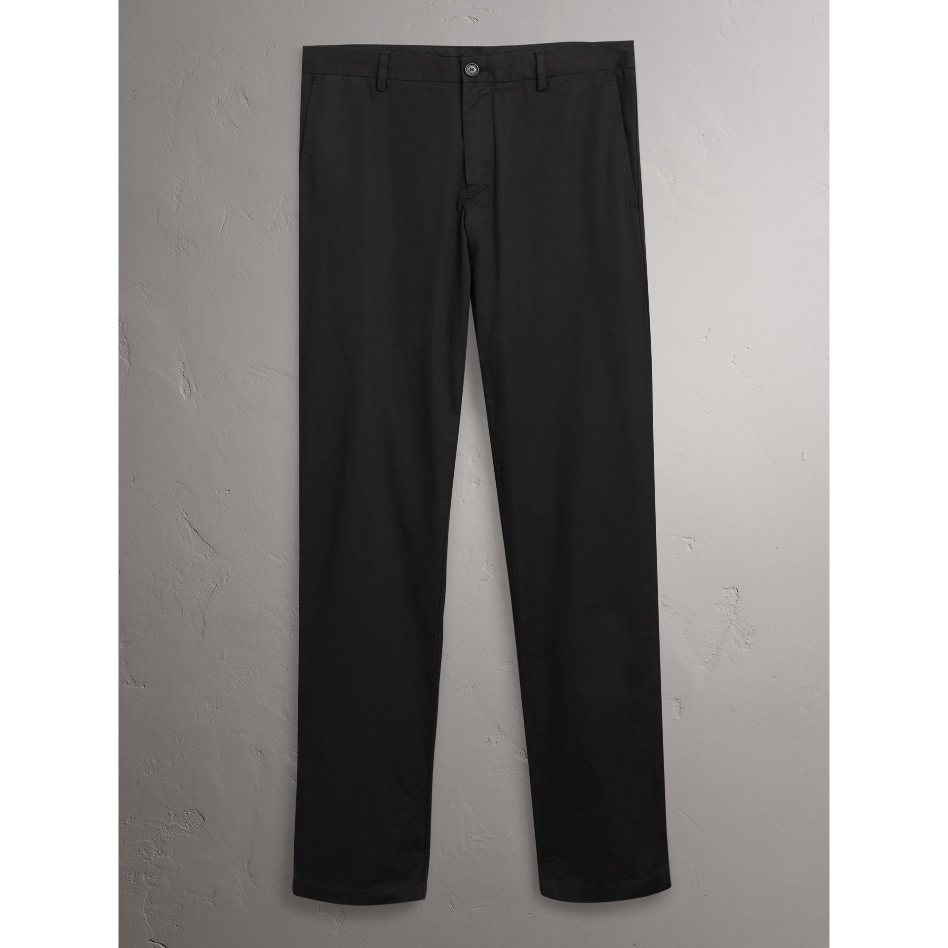 Burberry Black Slim Fit Cotton Chinos