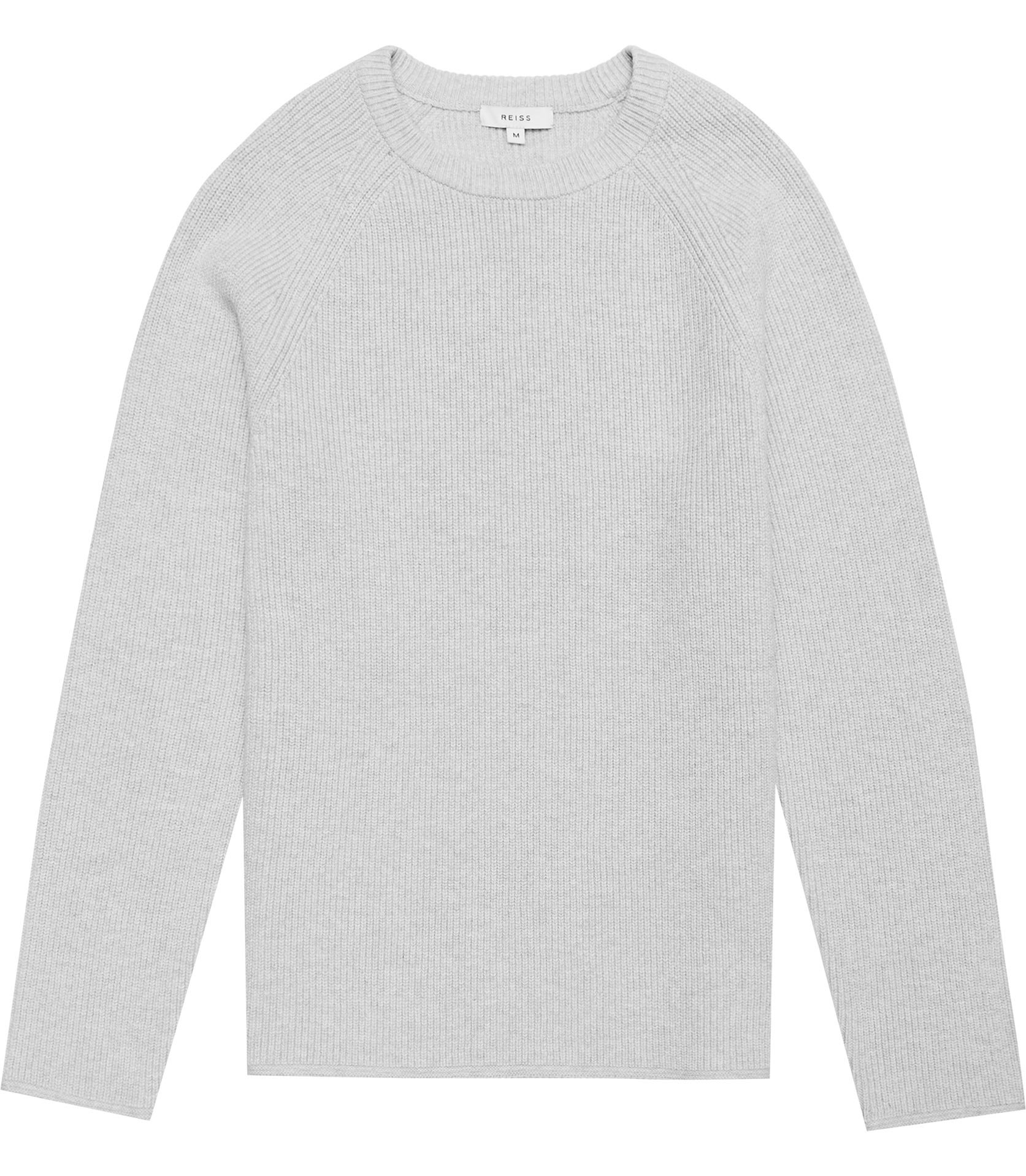 Reiss Greymelange Emory Ribbed Cotton Jumper