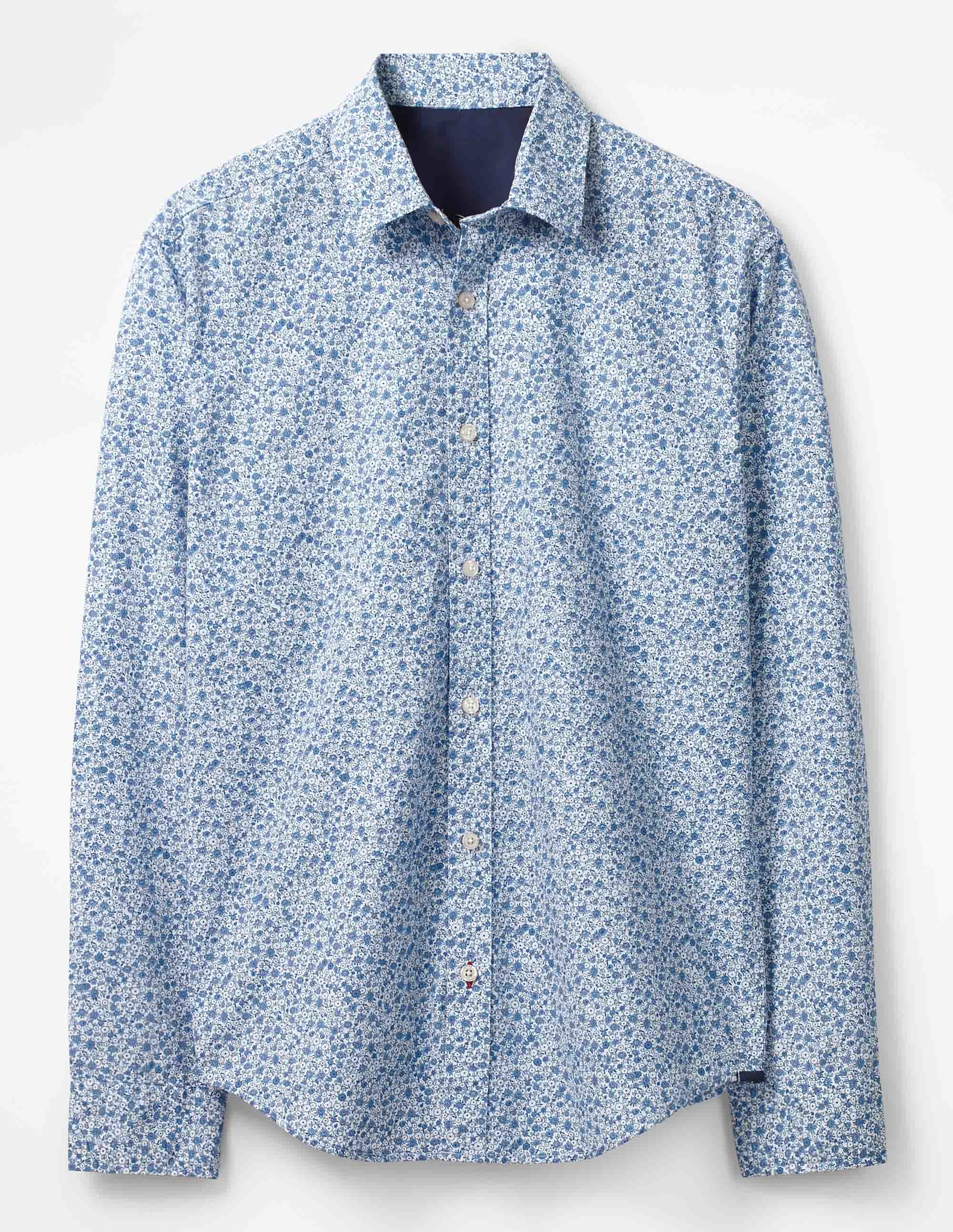 Boden Blues Ditsy Floral Floral Printed Shirt