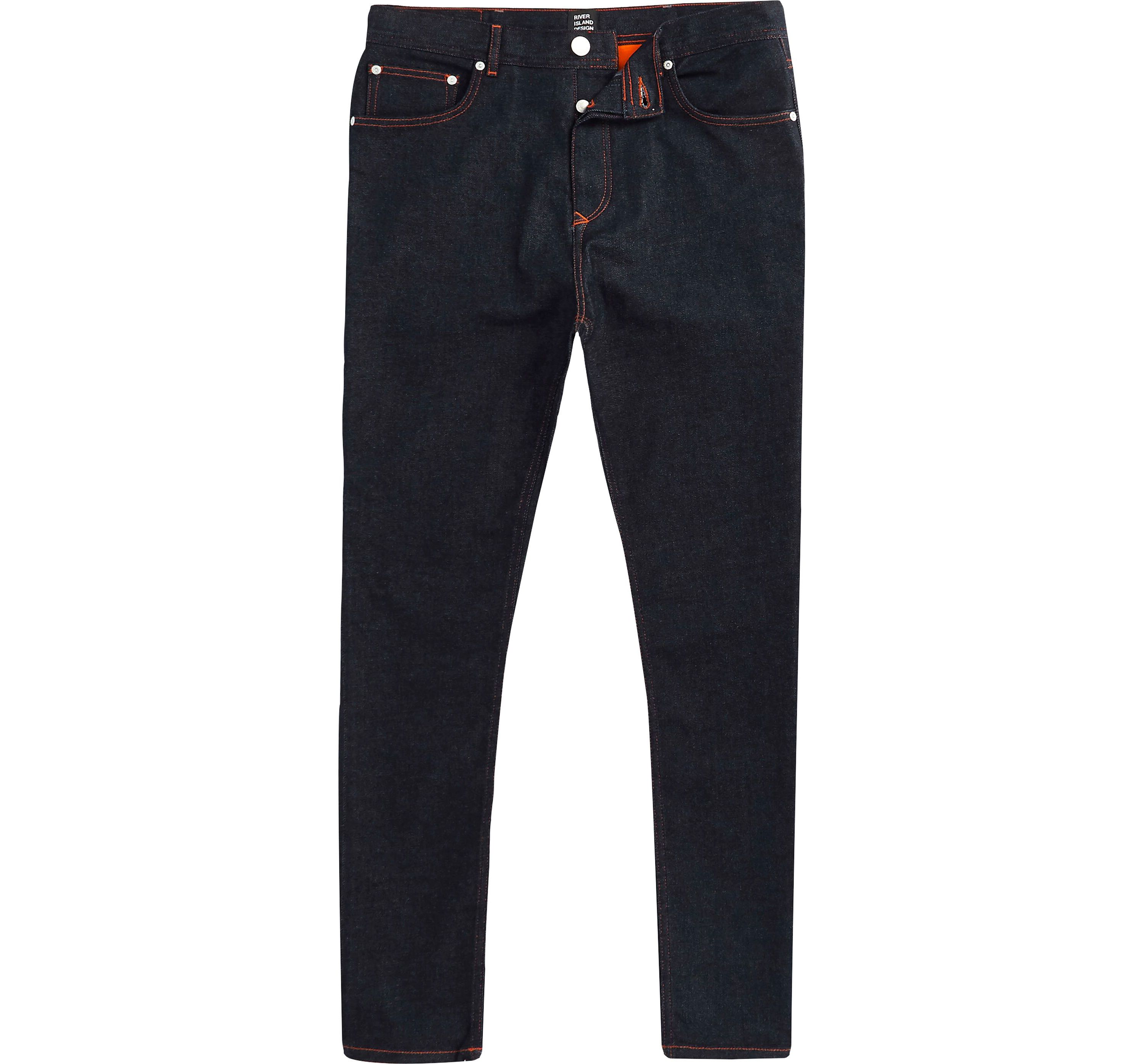 River Island Mens Navy Blood Brother tapered jeans