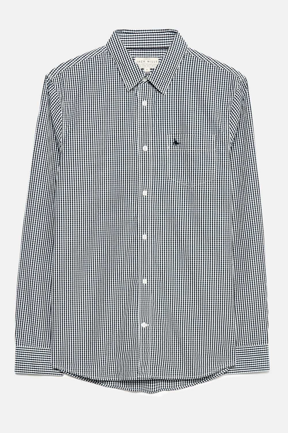 Jack Wills Navy IFFLEY GINGHAM POPLIN SHIRT
