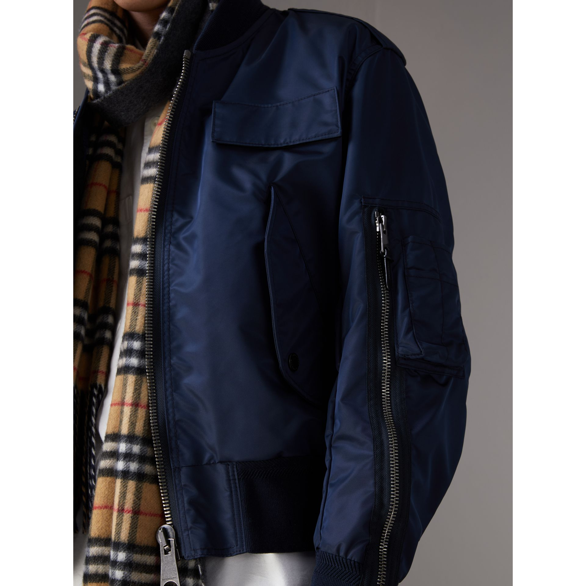 1a5d898ce Zip Detail Cropped Bomber Jacket by Burberry
