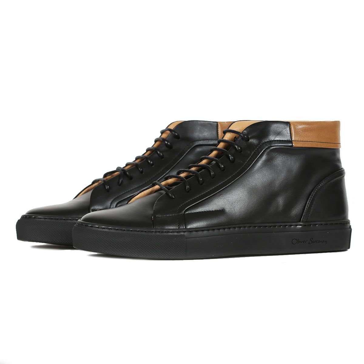 Oliver Sweeney Uzzano Black - Calf Leather High -Top Trainer