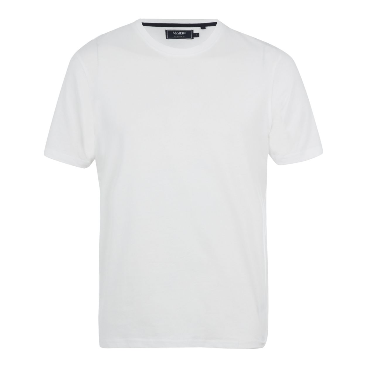 Maine New England Big and tall white crew neck t-shirt