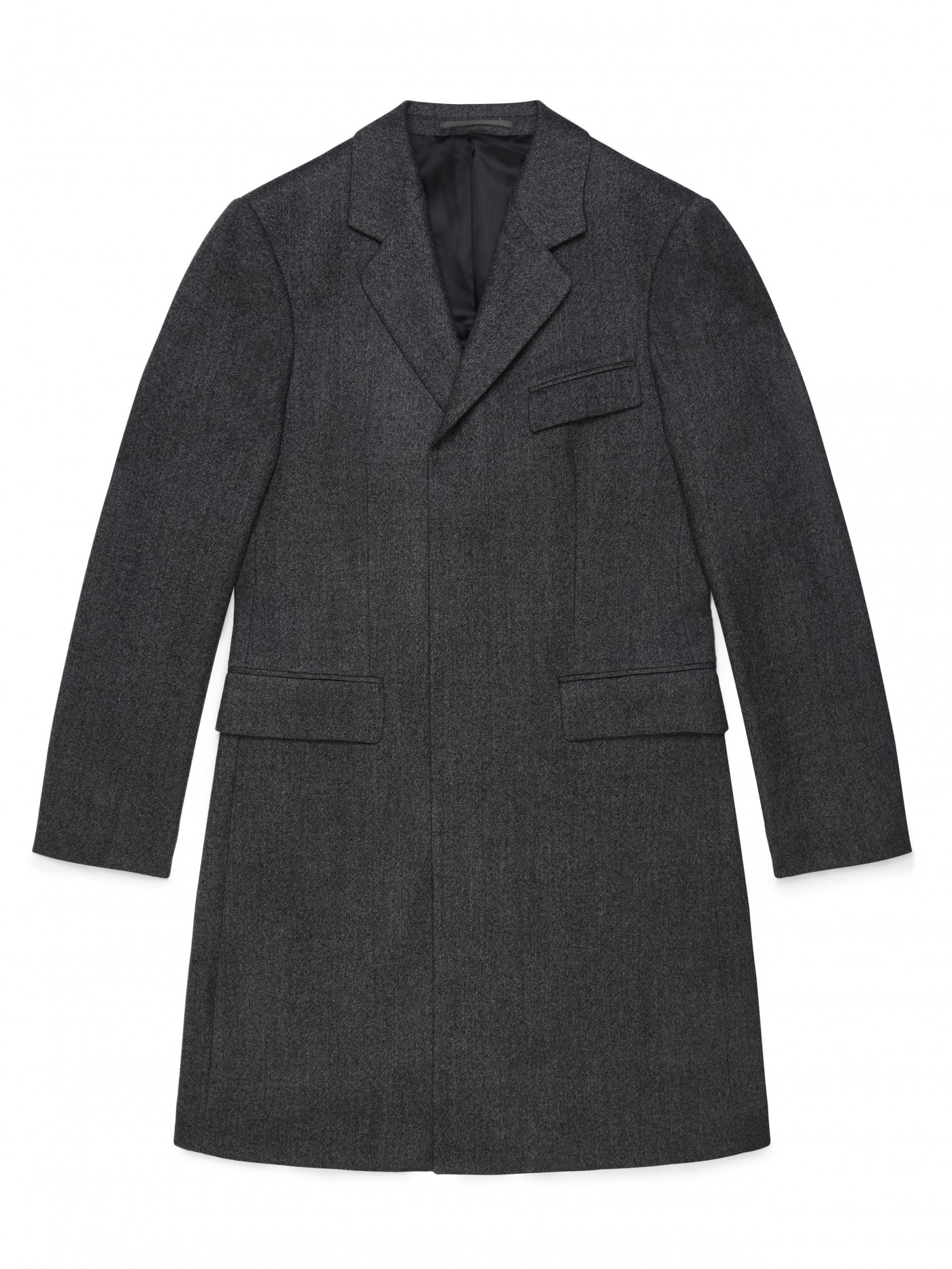 E. Tautz Charcoal Single Breasted Coat