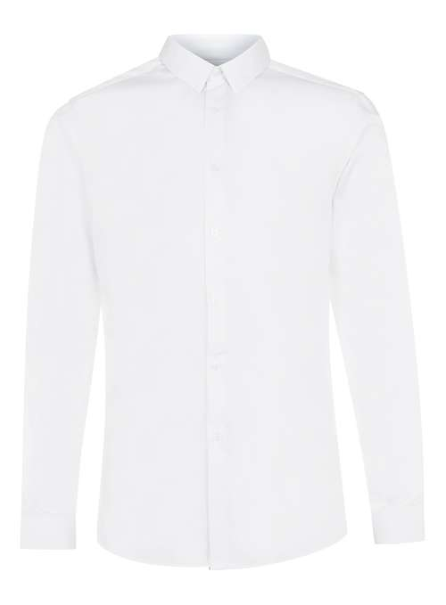 Topman White Premium white long sleeve smart shirt