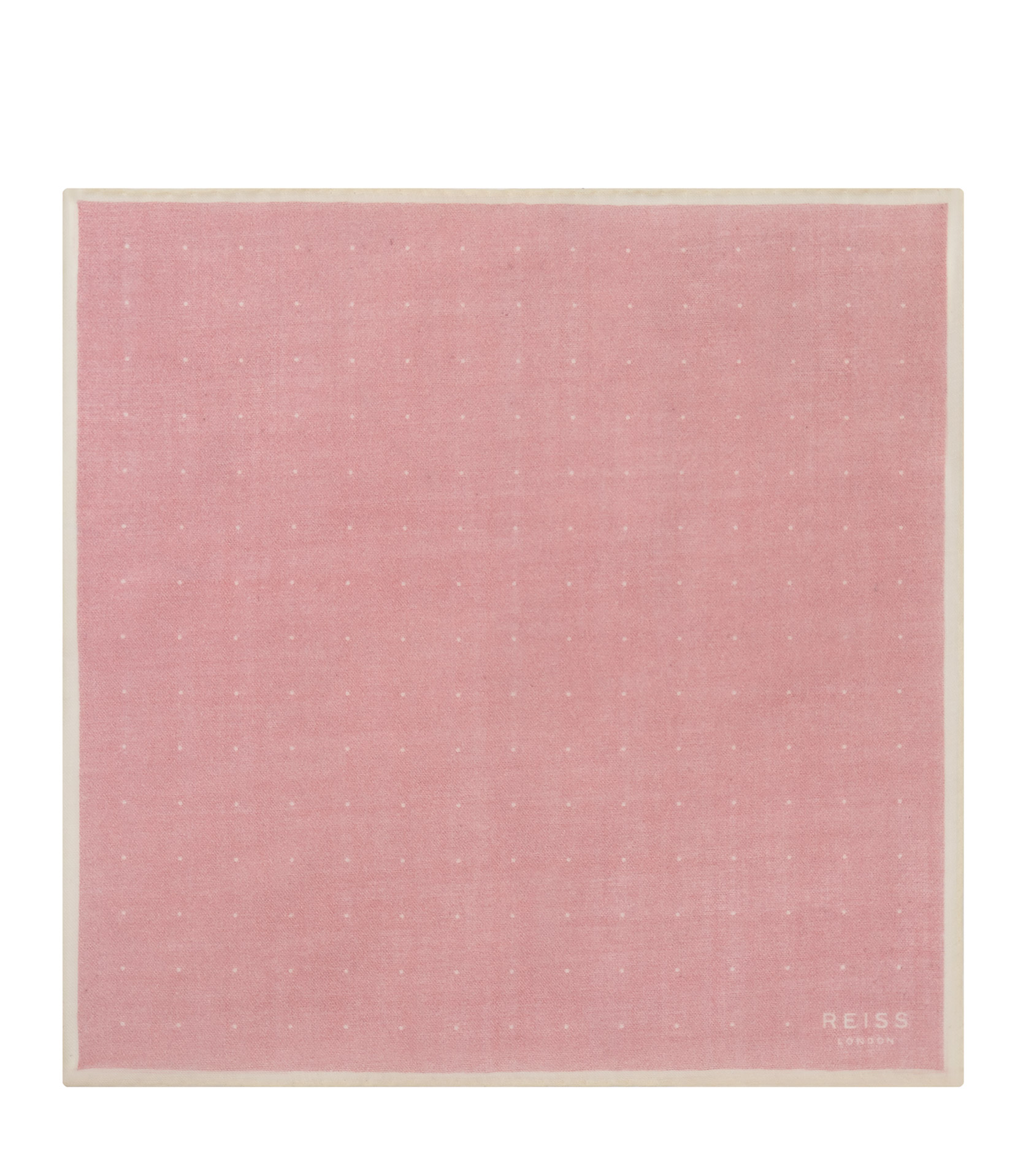 Reiss Soft Pink Cinta Spotted Pocket Square