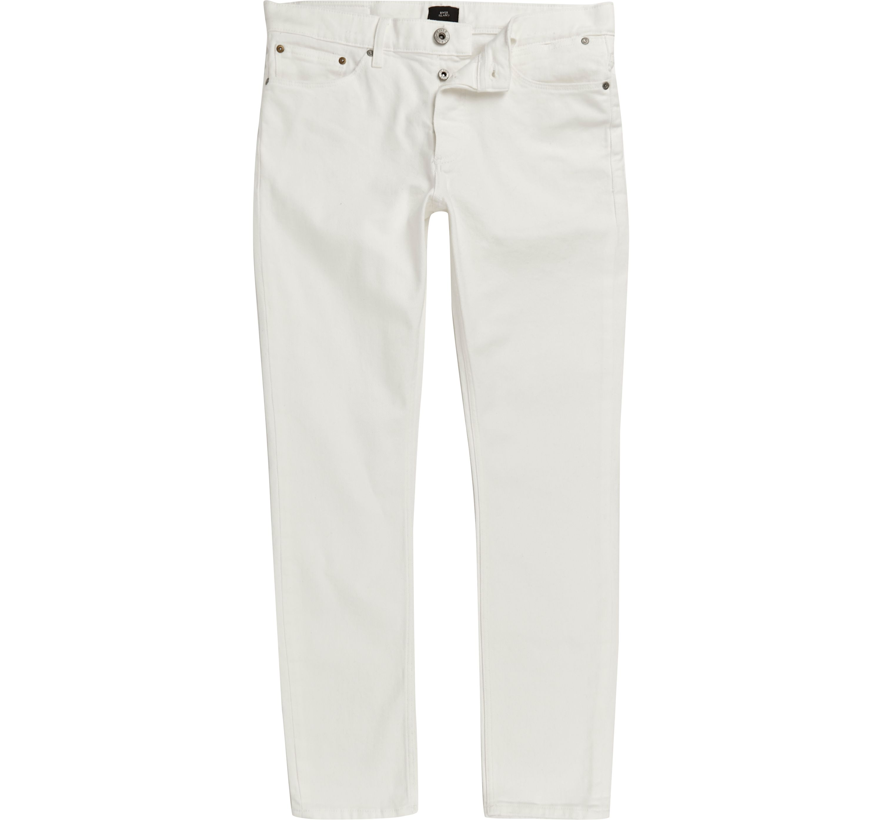 c1a908e3 Mens White Sid skinny jeans by River Island — Thread