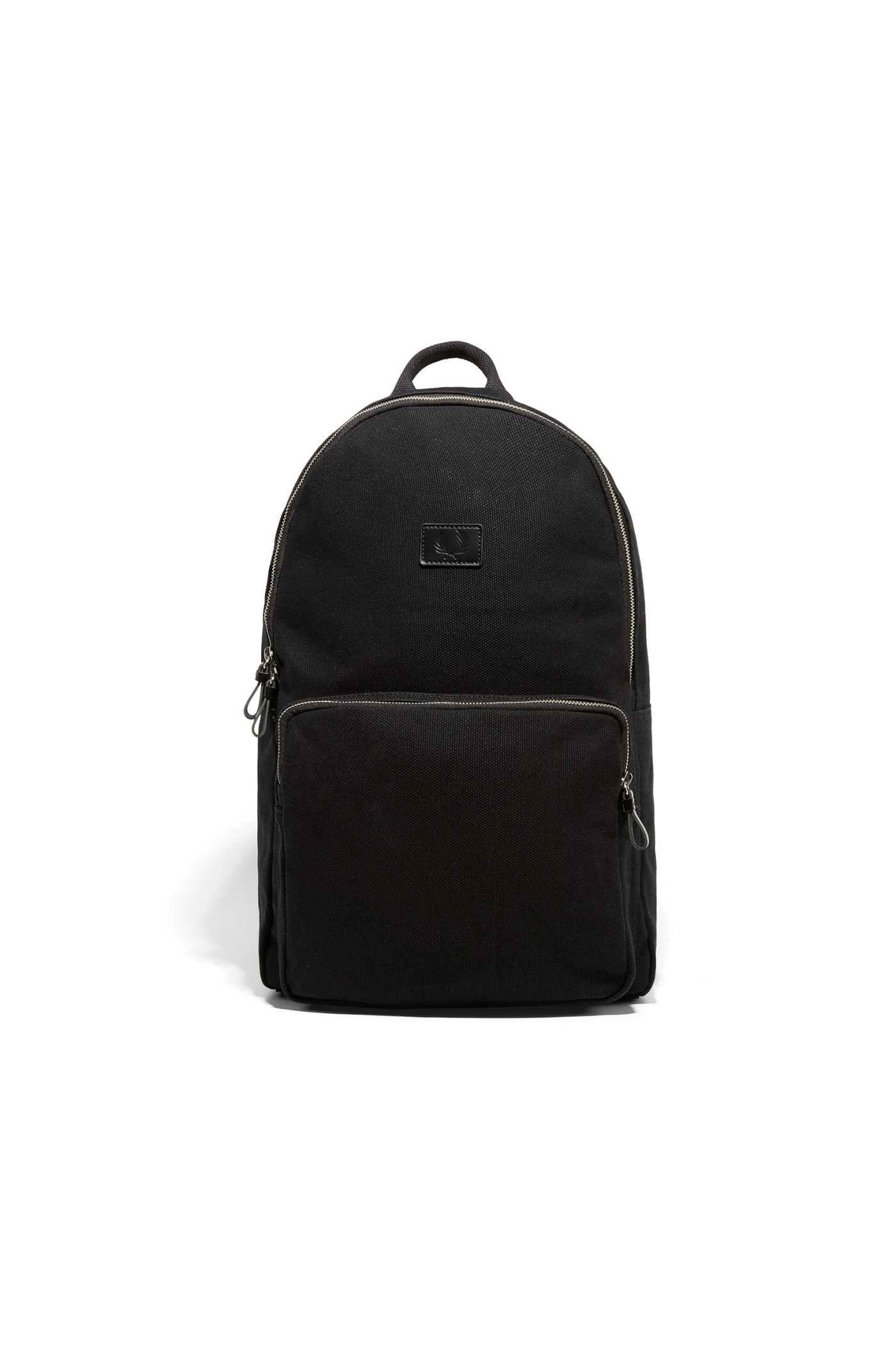 Fred Perry Leather And Canvas Rucksack