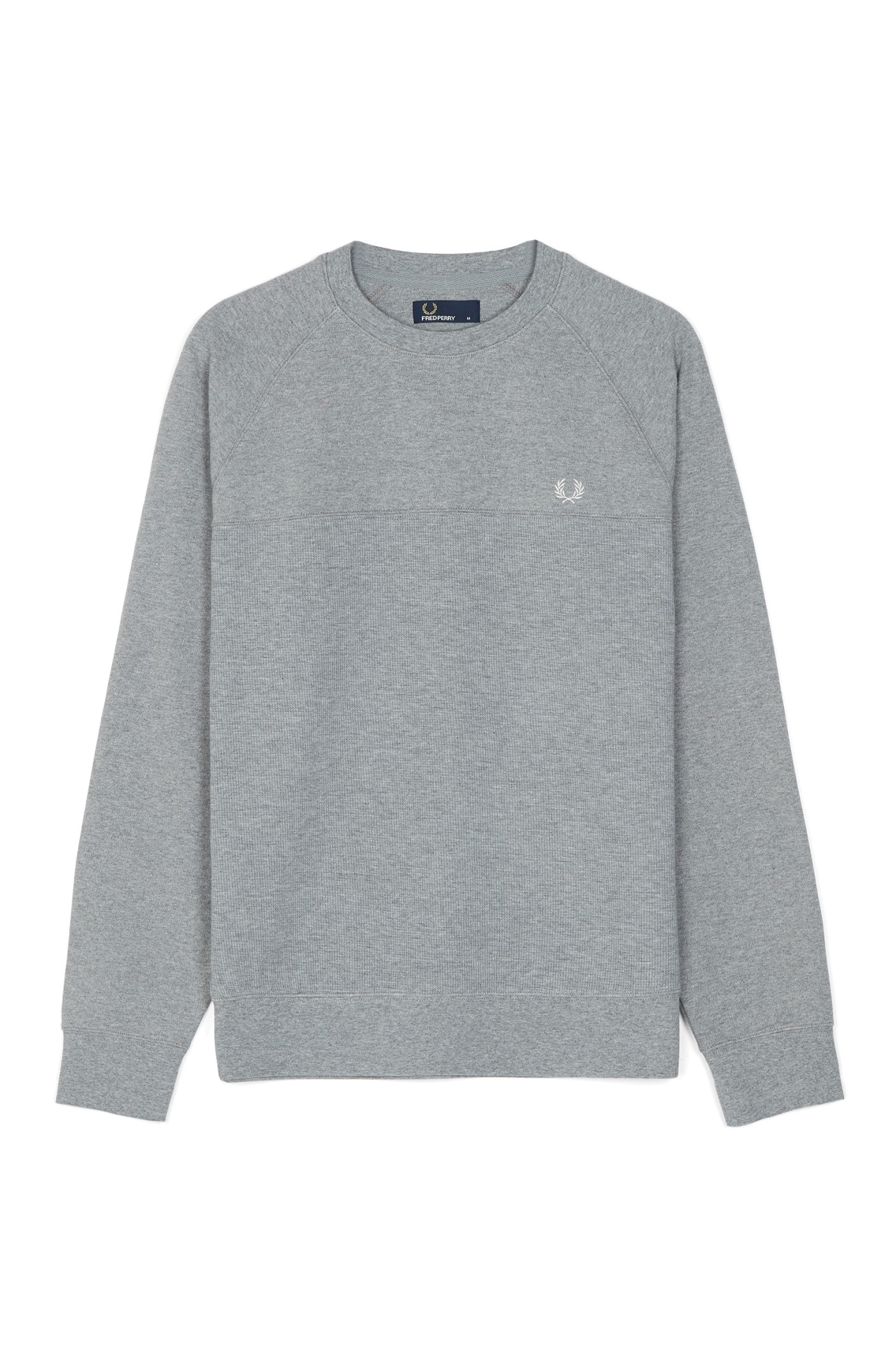 Fred Perry Textured Panel Crew Neck Sweatshirt