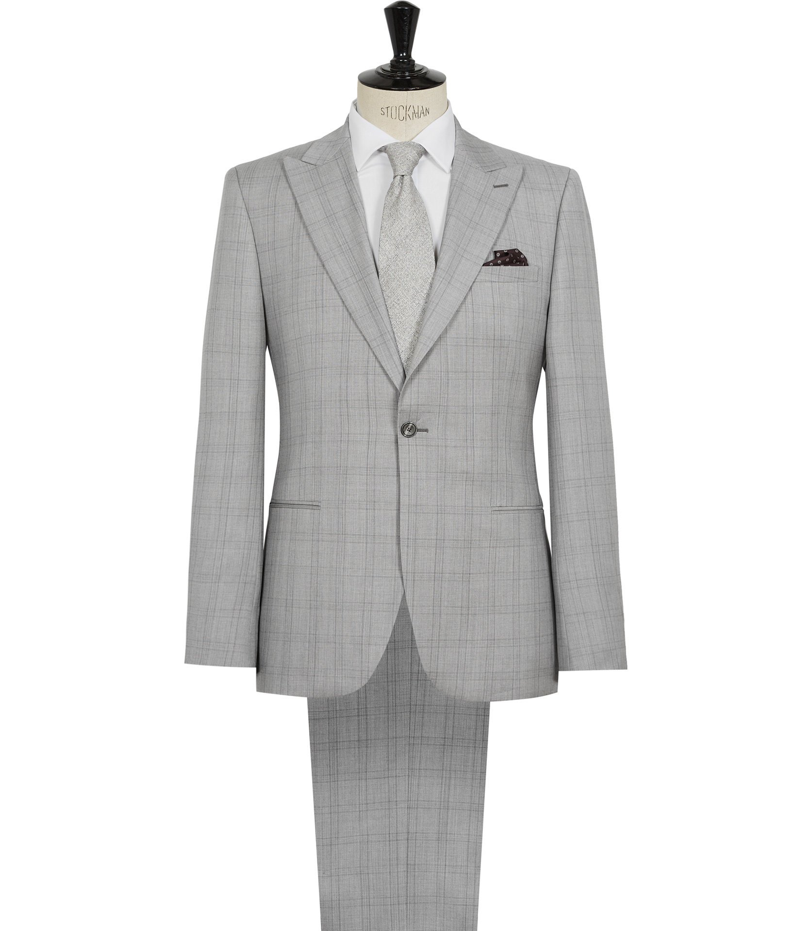 Reiss Soft Grey Tudor Modern Fit Suit