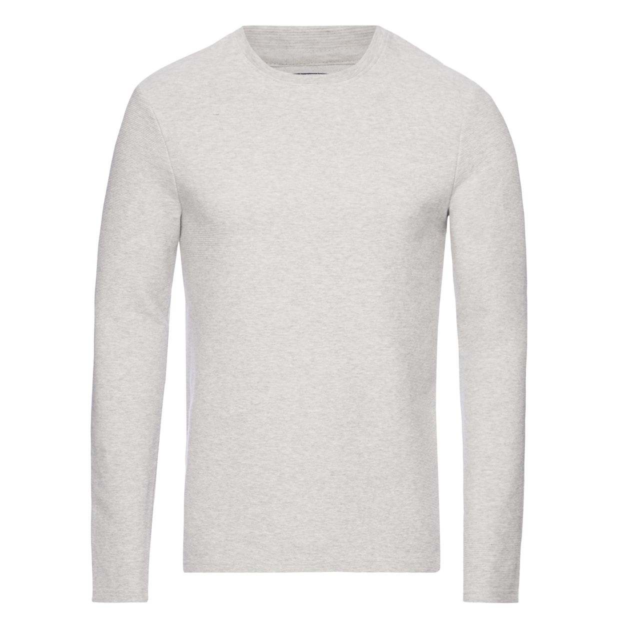 Red Herring Light grey ribbed slim fit sweatshirt