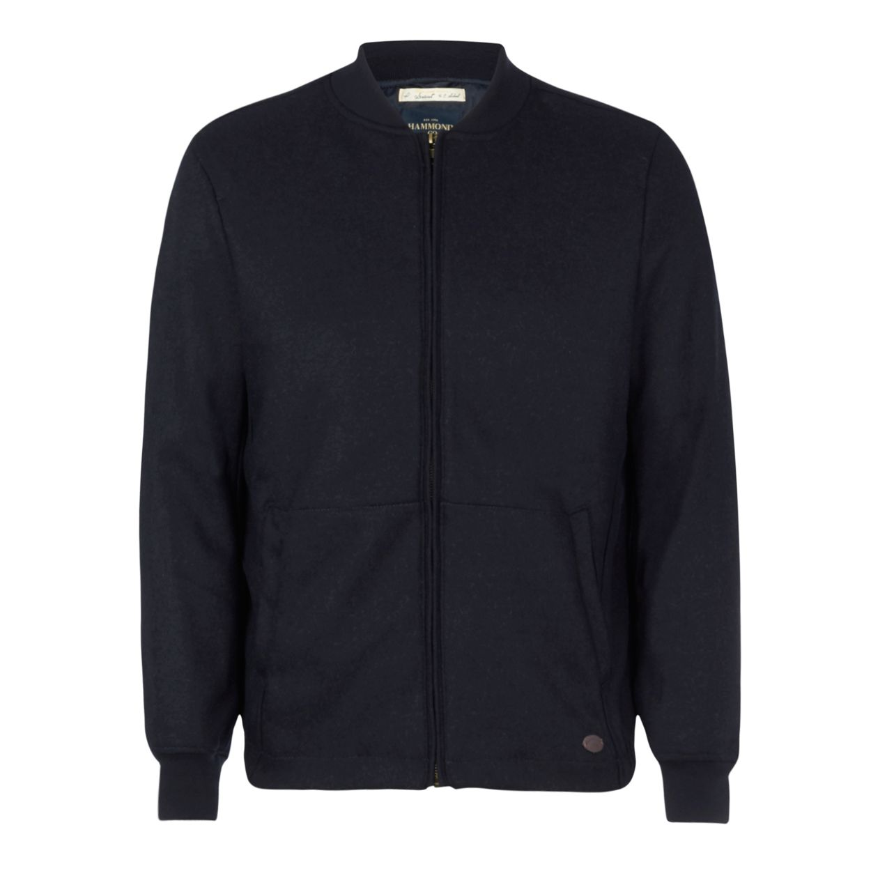 Hammond & Co. by Patrick Grant Navy bomber jacket with wool