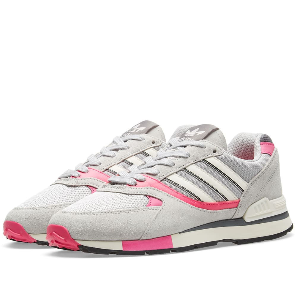 Adidas Grey Two & Shock Pink Quesence