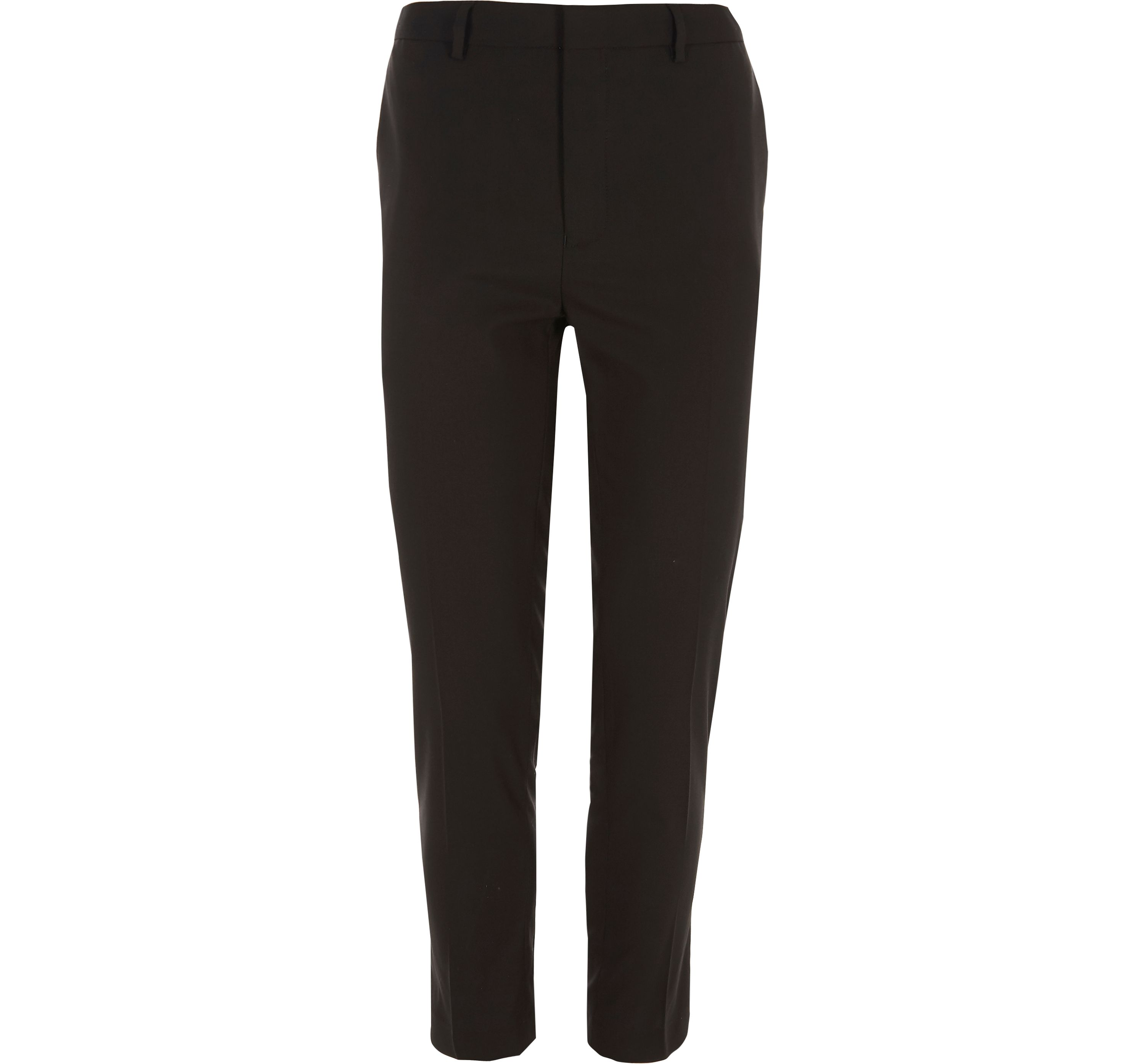 River Island Mens Black super skinny fit cropped smart trousers